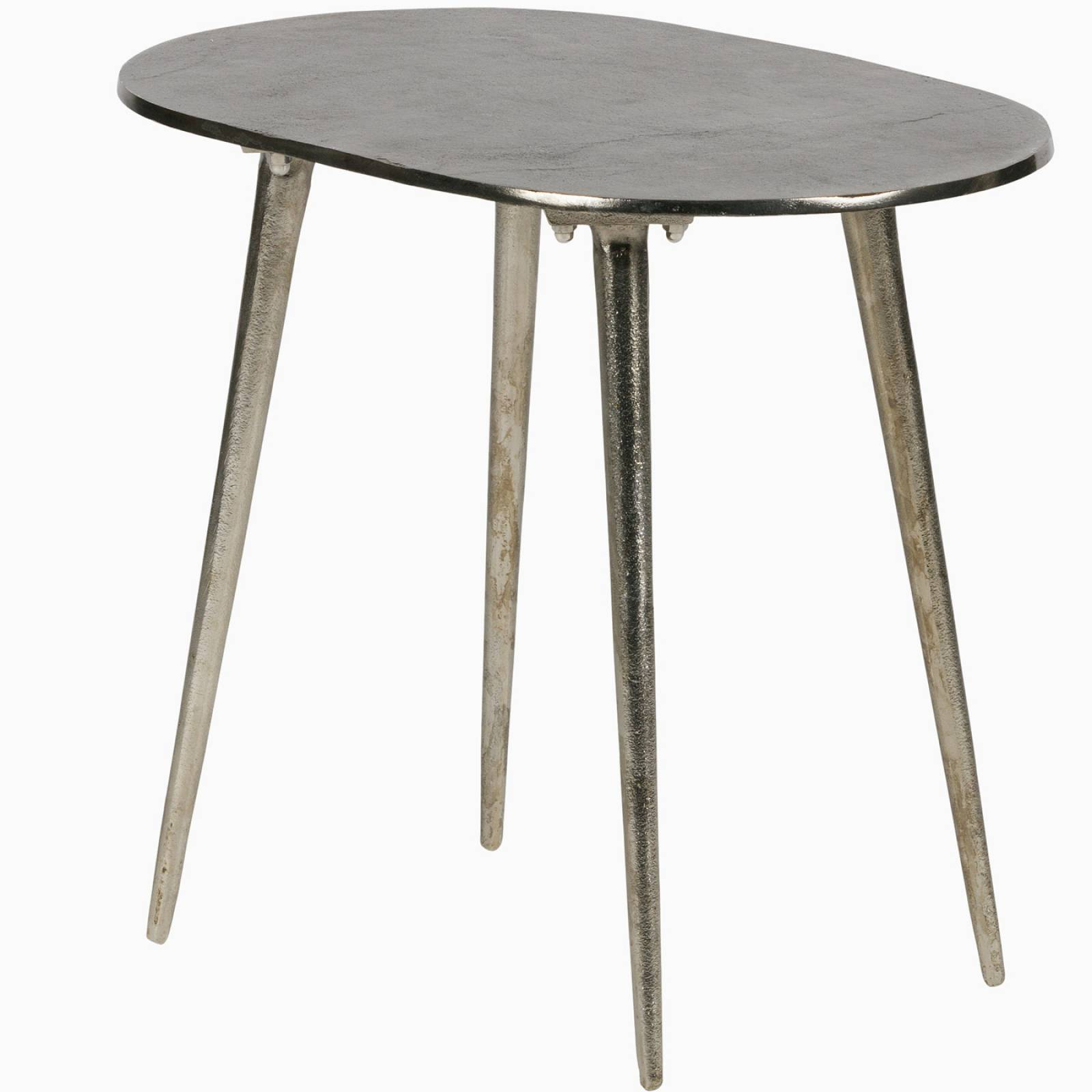 Oval Burnished Gold Side Table