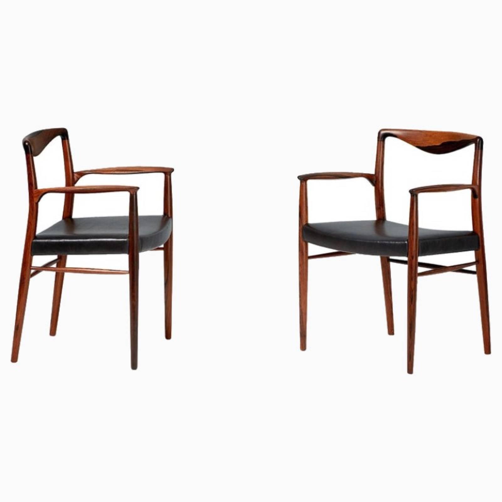 Pair Of 1960s Rosewood Chairs By Kai Lyngfeldt Larsen