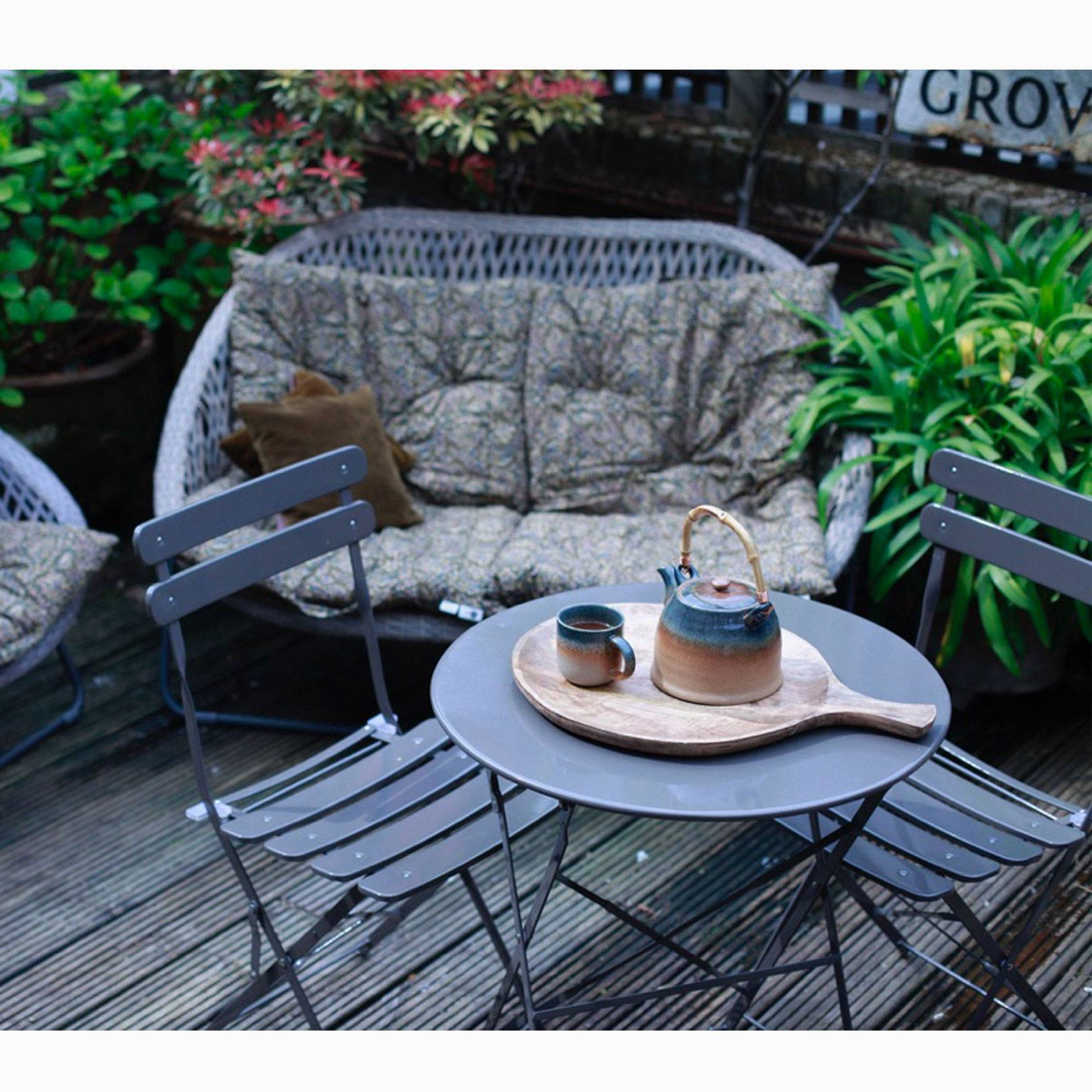 Peat Bistro Set Of Table & Two Chairs thumbnails