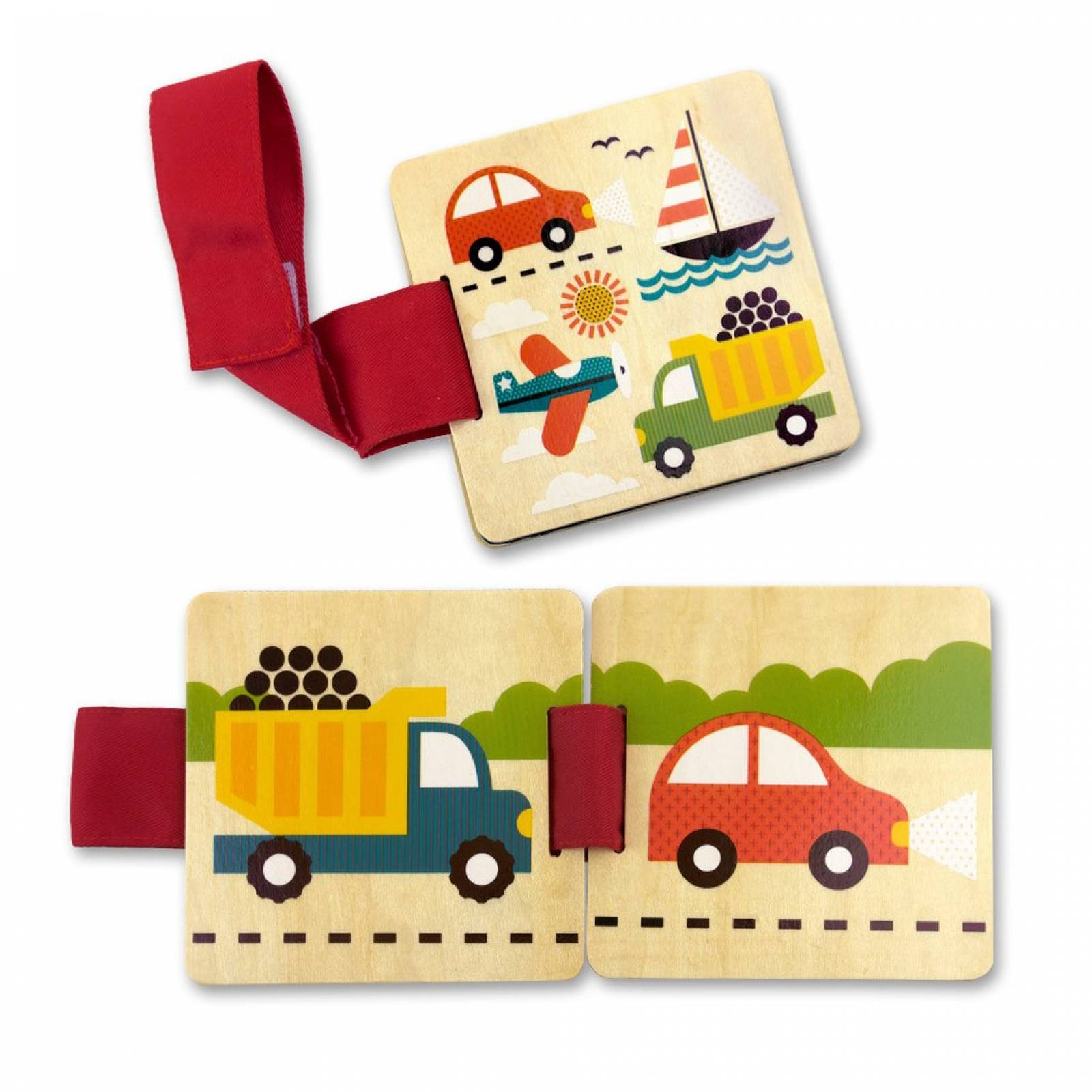 Things That Go Wooden Stroller Buggy Book by Petit Collage 6m+ thumbnails
