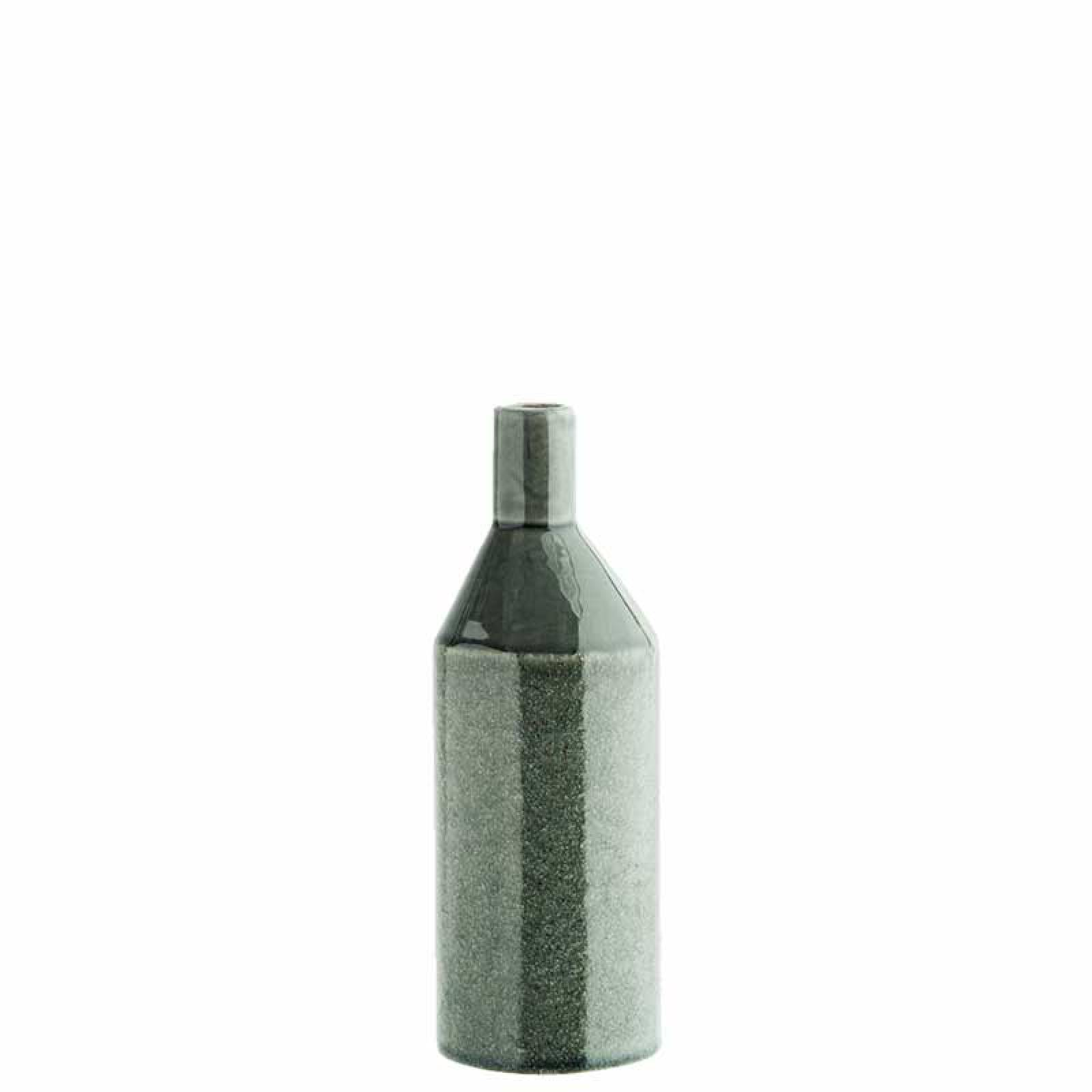 Petrol Green Slim Glazed Vase 20cm thumbnails