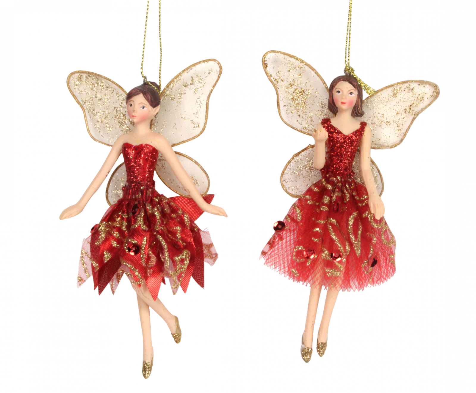 Red Fairy Christmas Decoration By Gisela Graham
