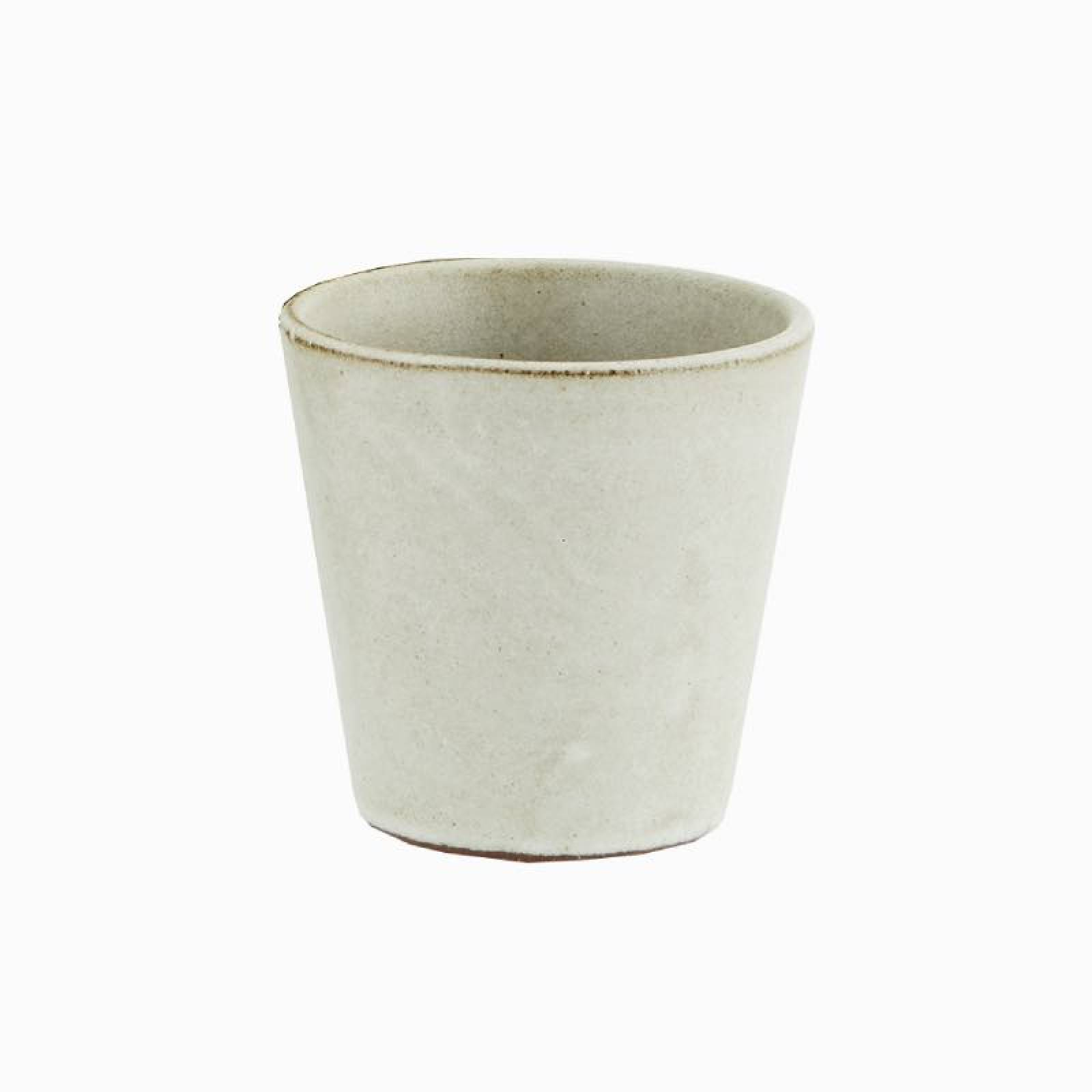 Small Stoneware Cup In Light Stone