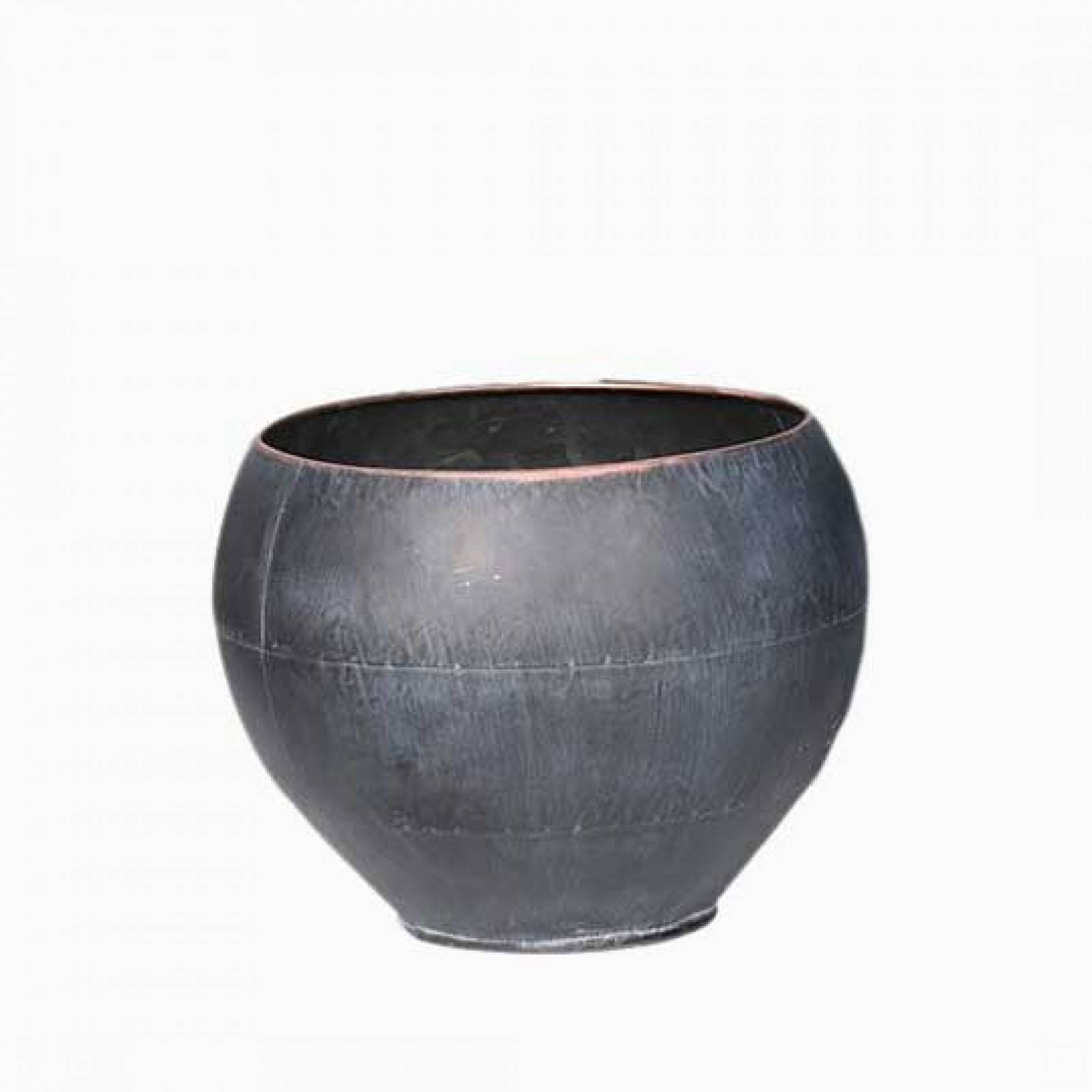 Small Curved Zinc Planter Pot