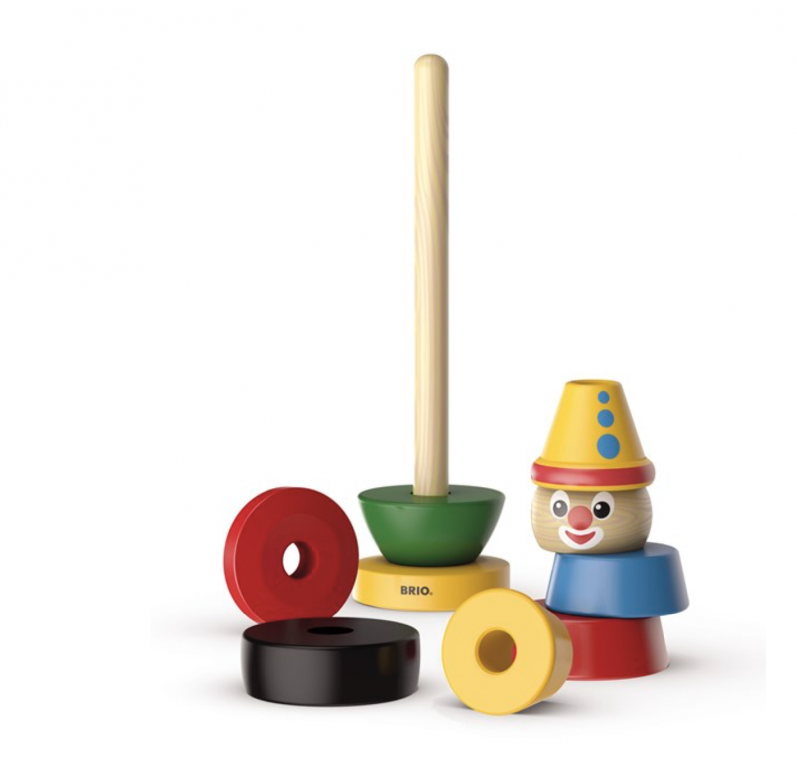 Stacking Clown Wooden Toy By BRIO 1+ thumbnails