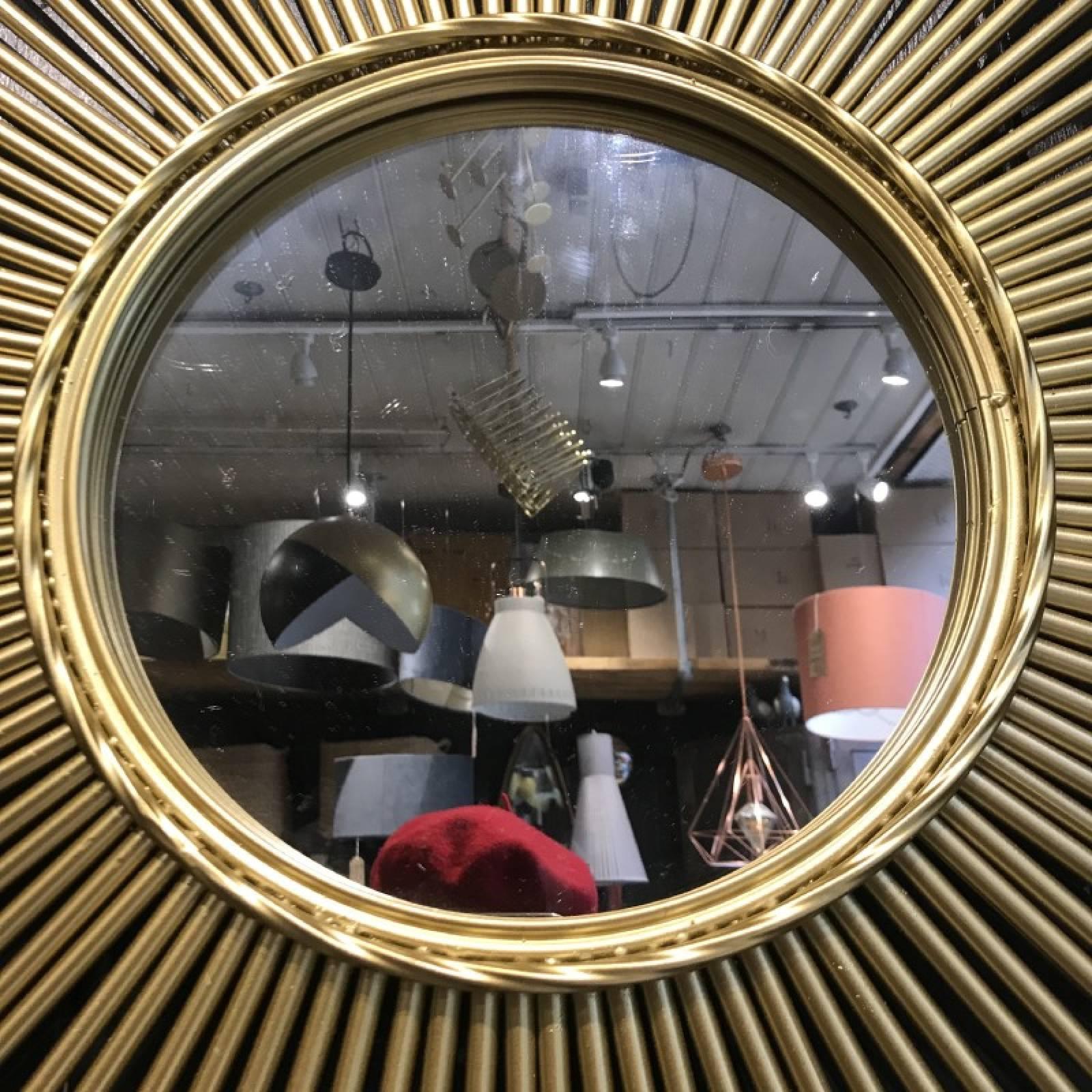 Star Shaped Tubular Sunburst Mirror In Gold thumbnails