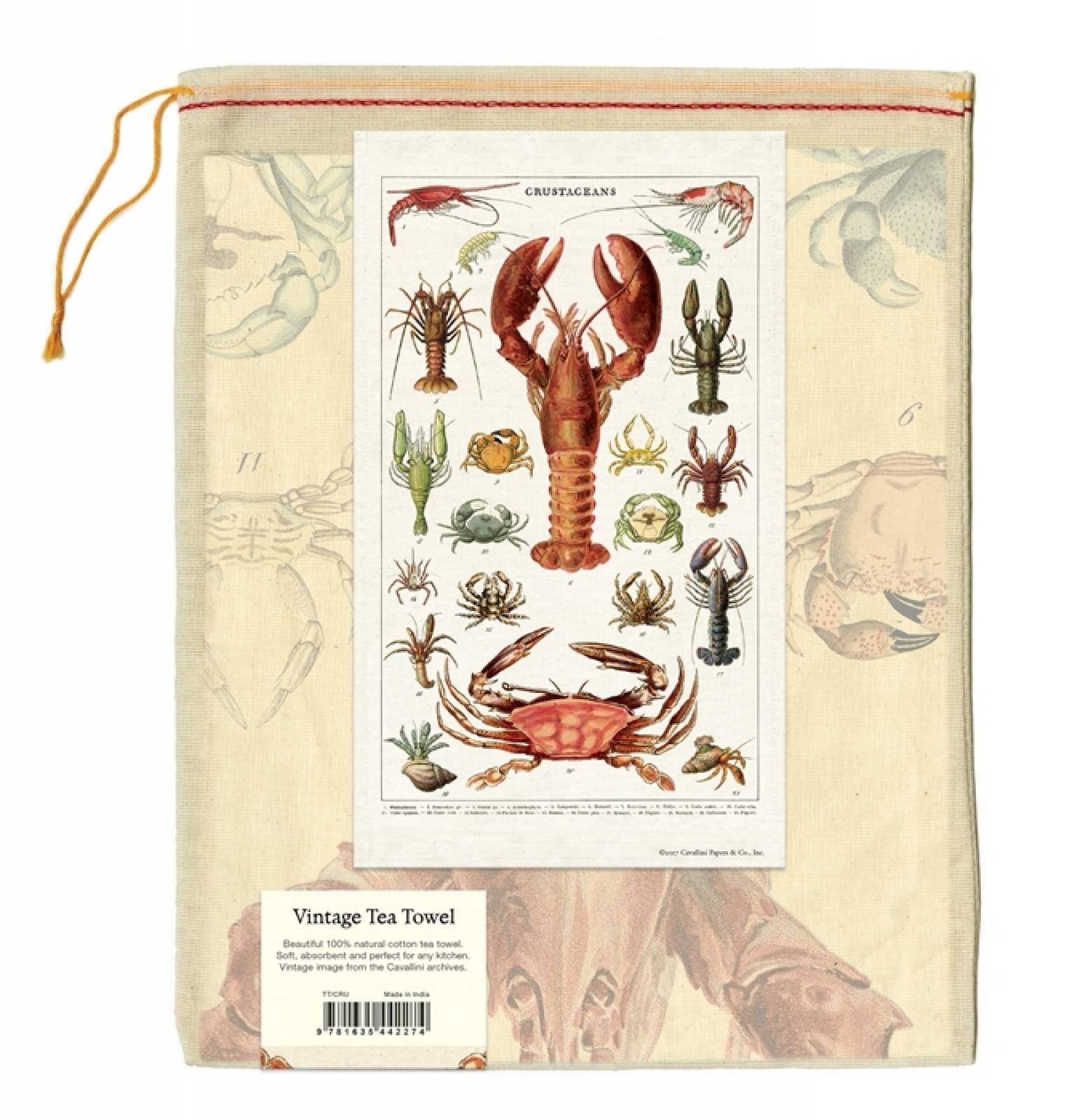 Crustacean Lobster Cotton Tea Towel With Gift Bag thumbnails