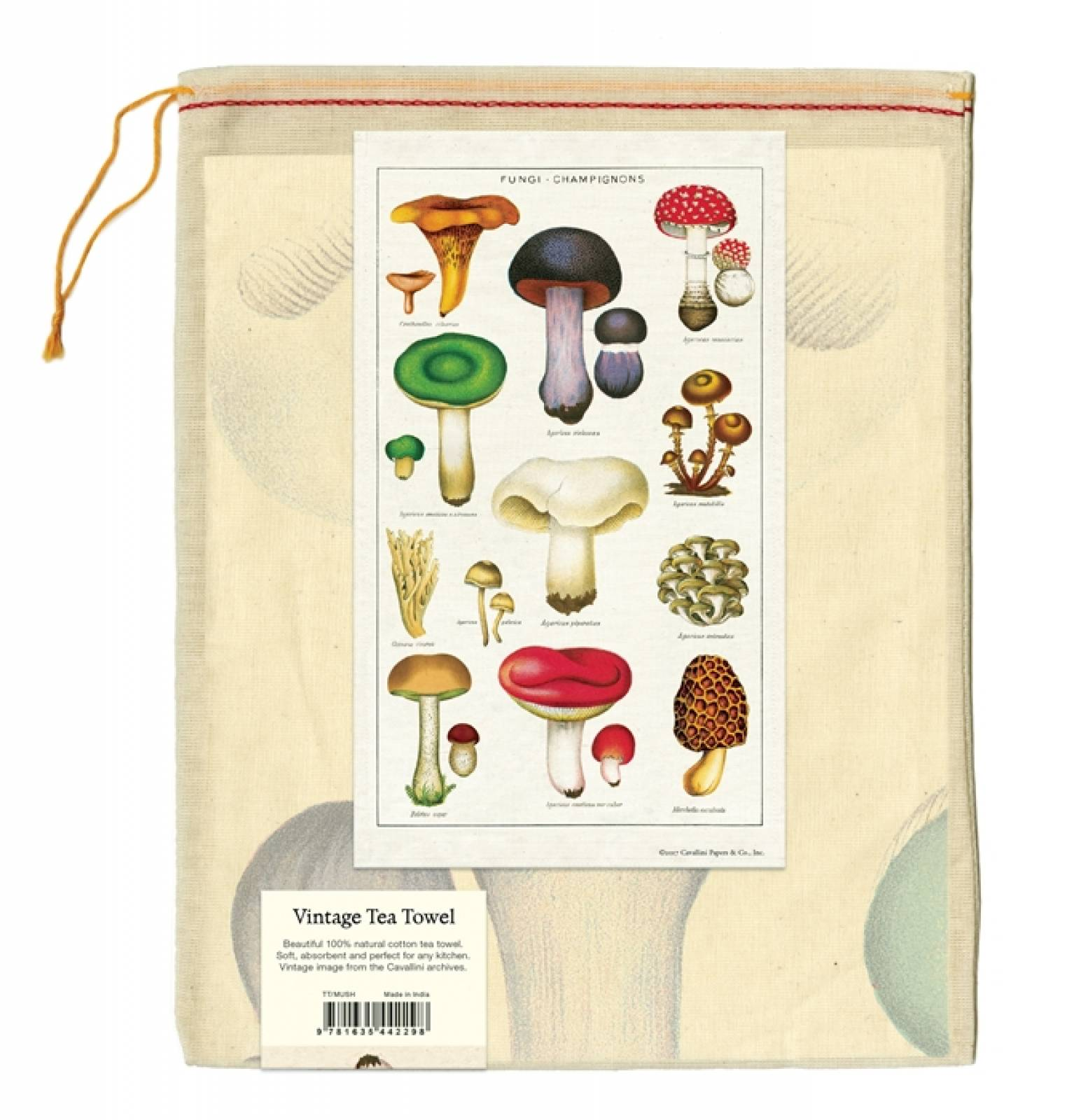 Fungi Champignion Mushrooms Cotton Tea Towel With Gift Bag thumbnails