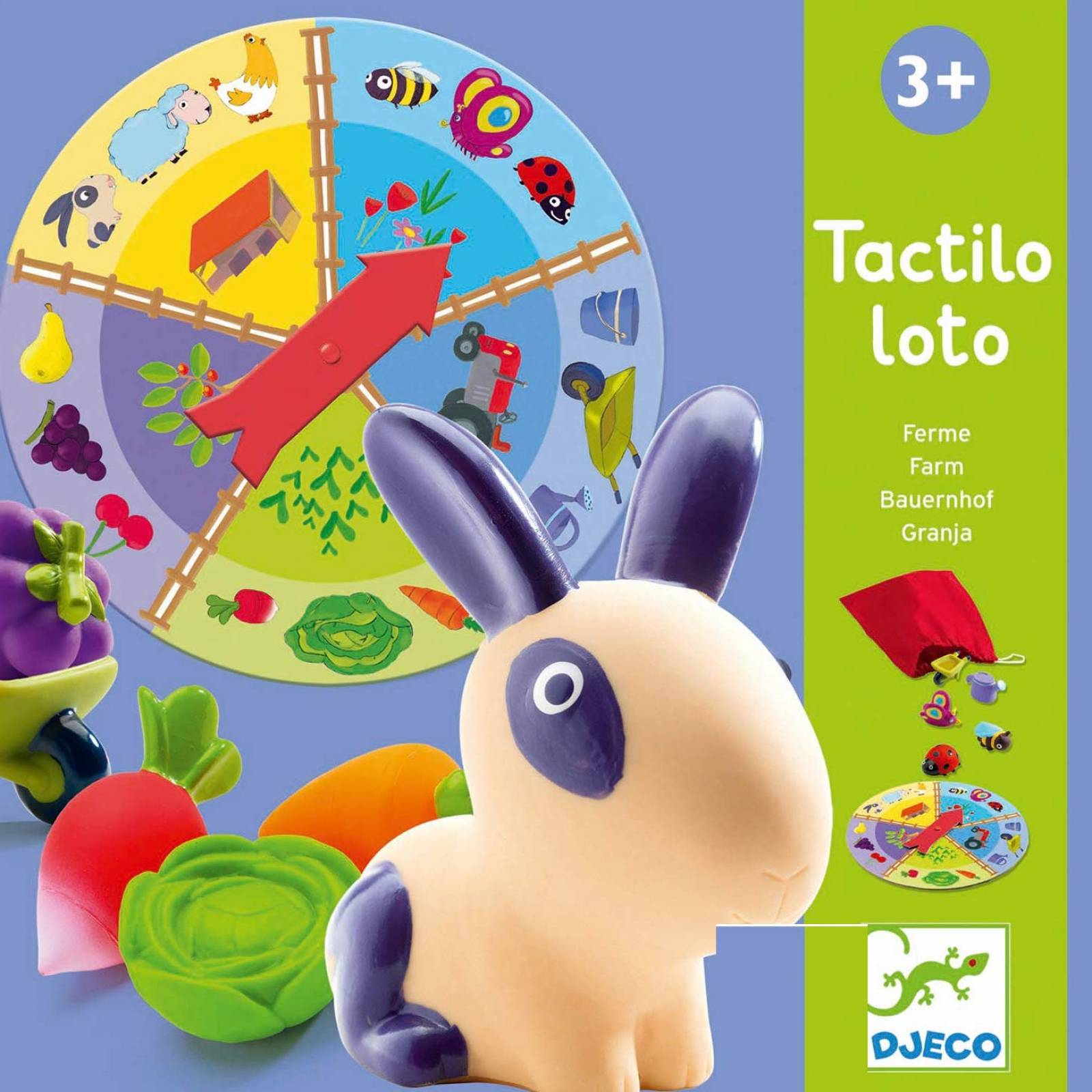 Tactile Loto Game - Farm By Djeco 3+