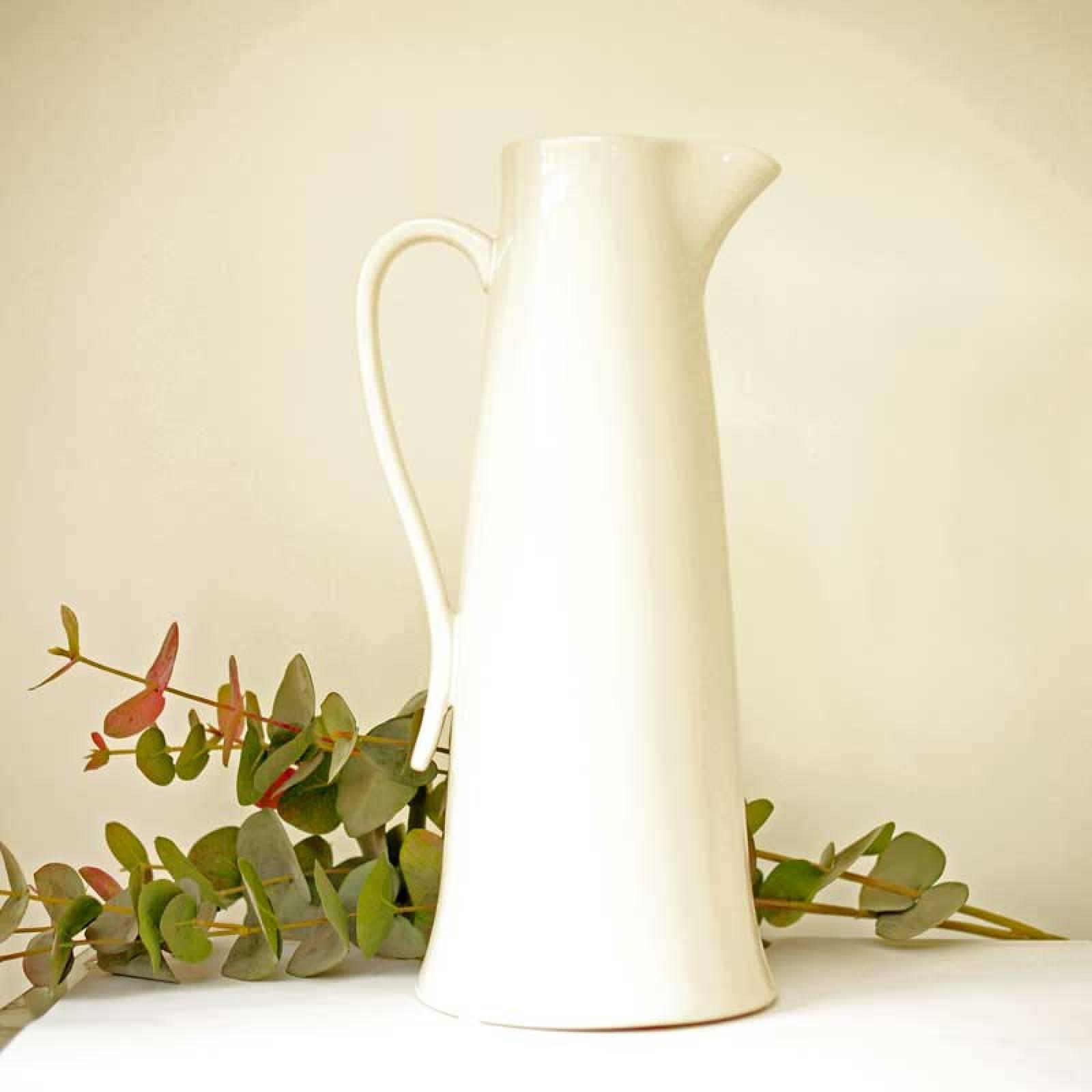 Tall Ivory Jug  / Vase H: 40cm