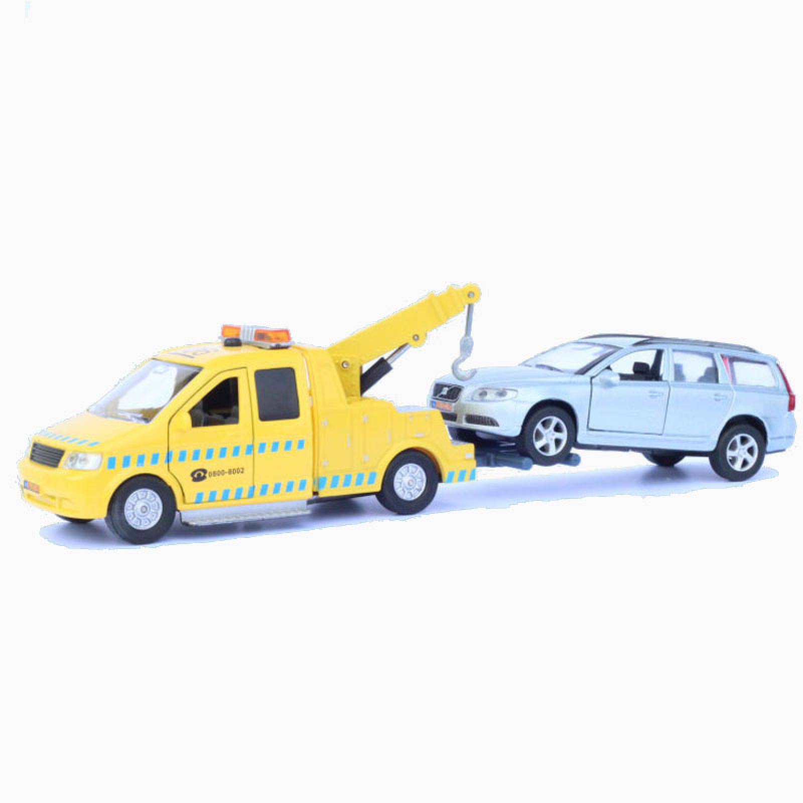 Recovery Tow Truck & Volvo Diecast Toy Car Set