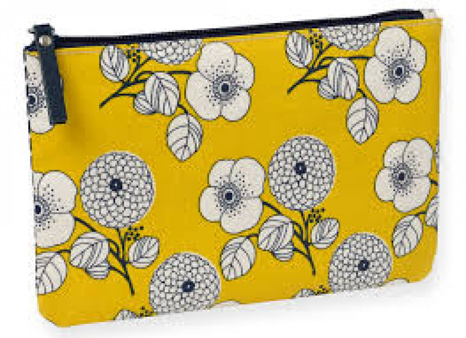 Double Sided Cosmetics Pouch - Floral & Geometric 23x14cm