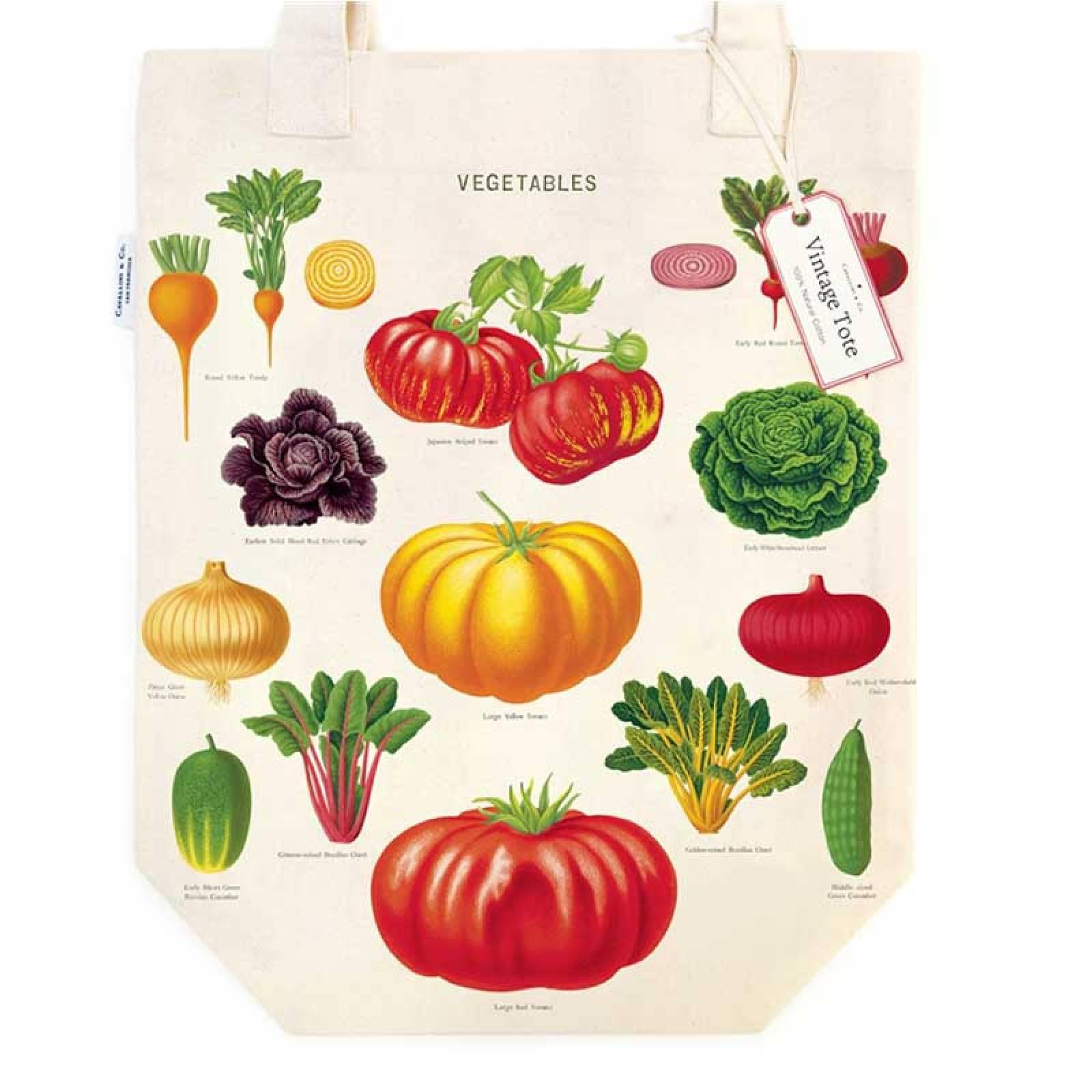 Vegetable Garden Cotton Tote Bag