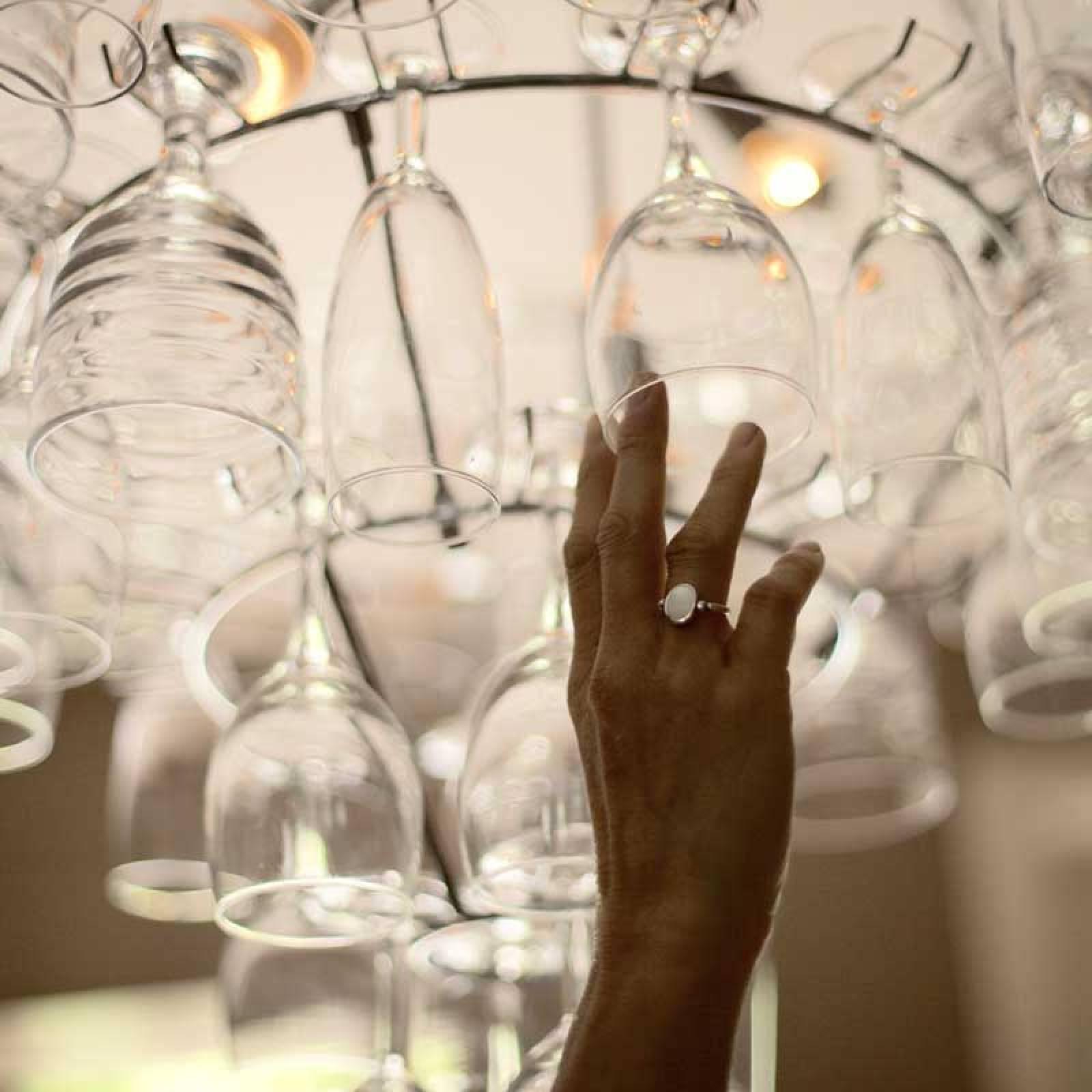 Vino Wine Glass Chandelier