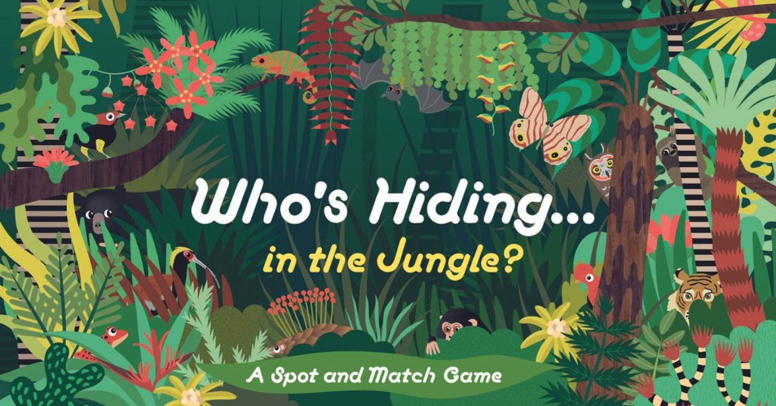 Who's Hiding In The Jungle? - A Spot And Match Game 4+
