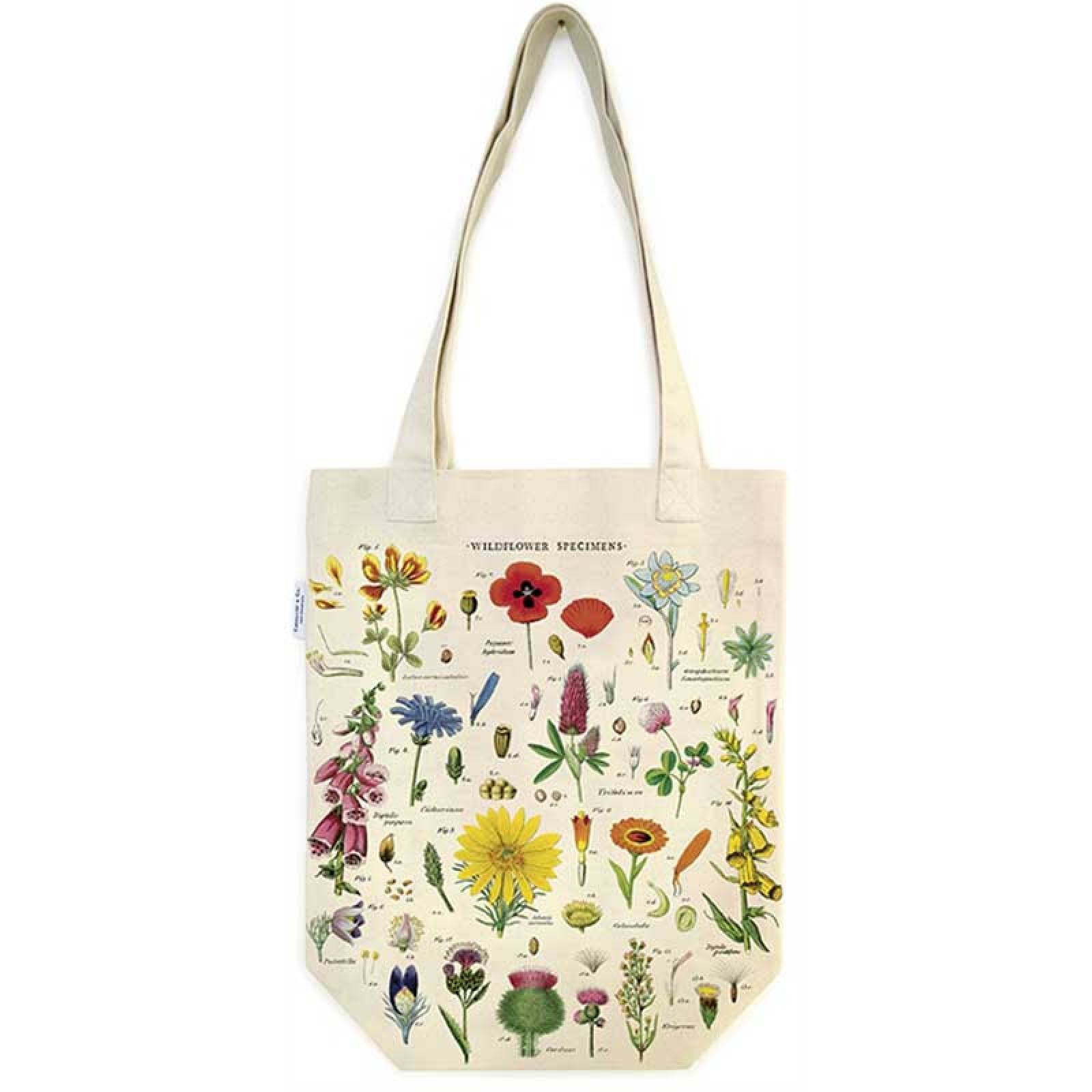 Wild Flowers Cotton Tote Bag thumbnails