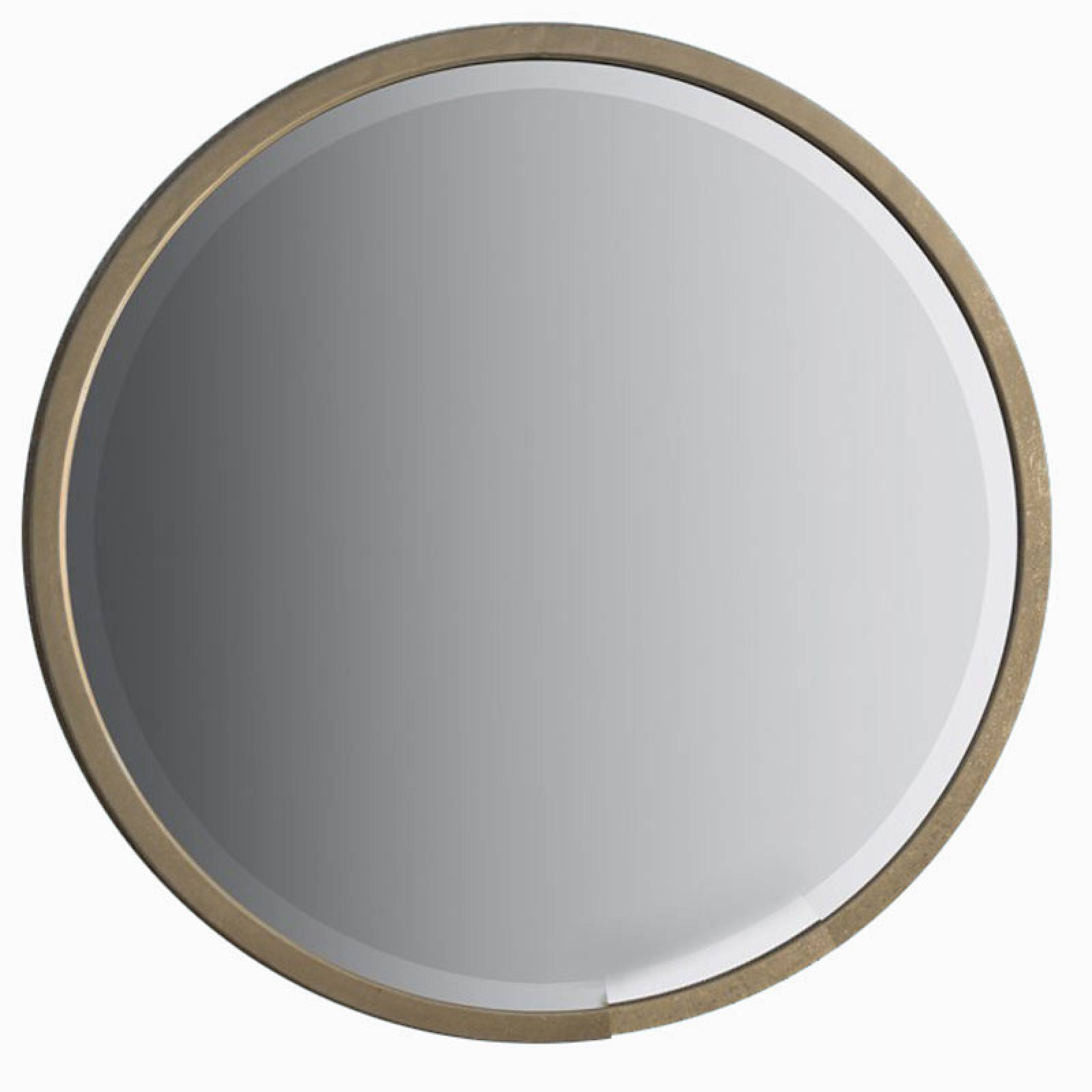 Alex Round Mirror Antiqued Gold Finish 80cm thumbnails