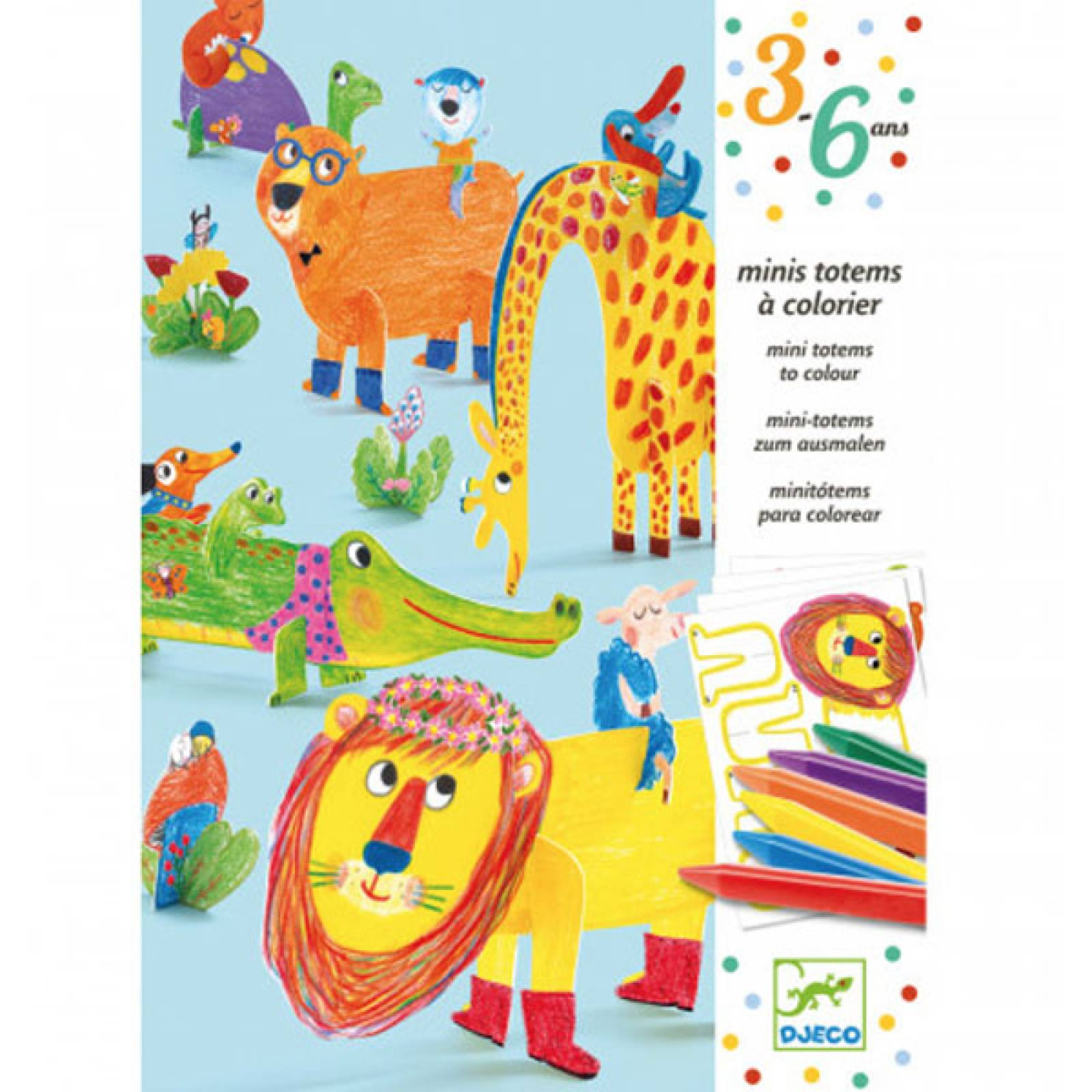 All Friends Colouring Modelling Kit By Djeco 3-6yrs