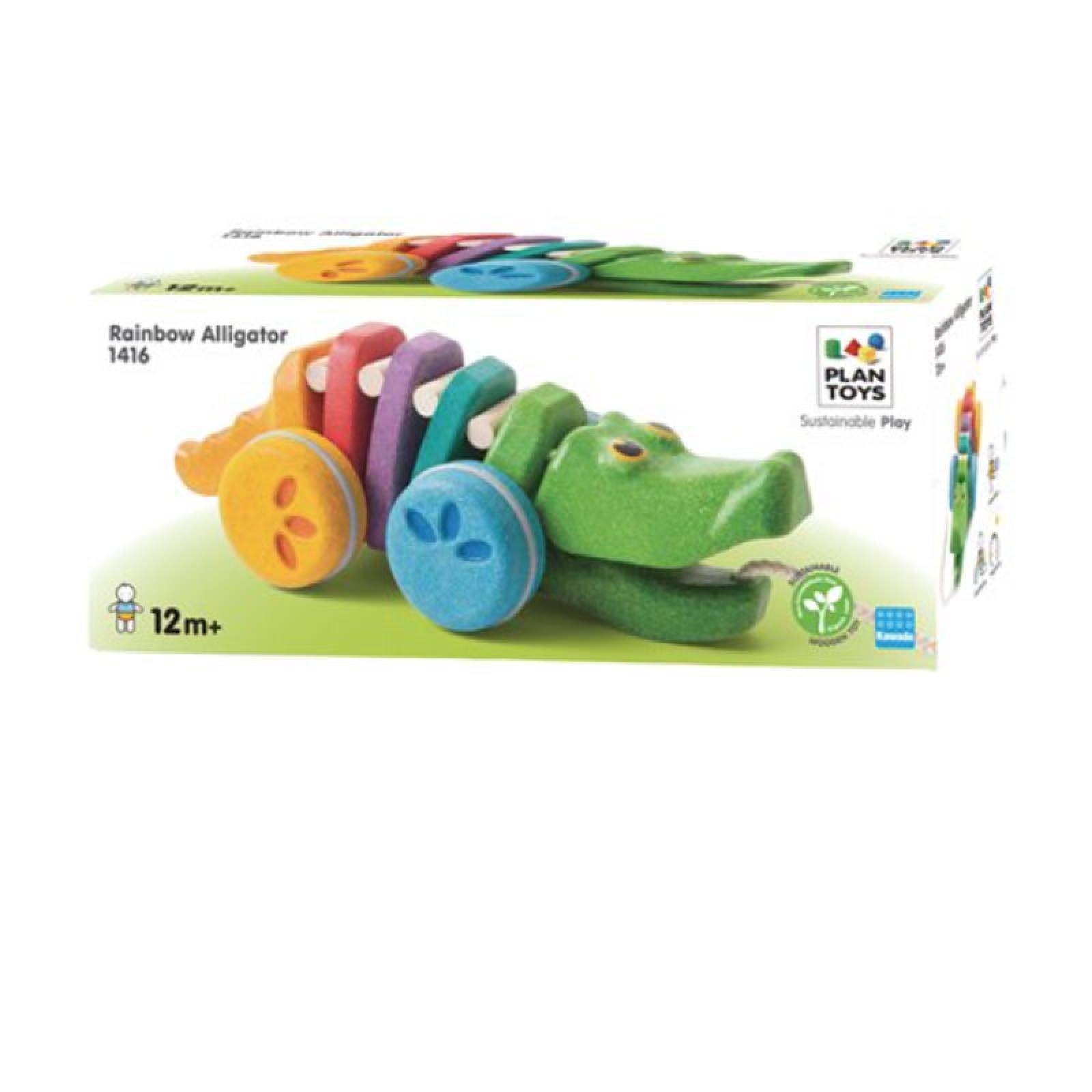 Pull Along Dancing Alligator Rainbow 12m+ Plan Toys thumbnails