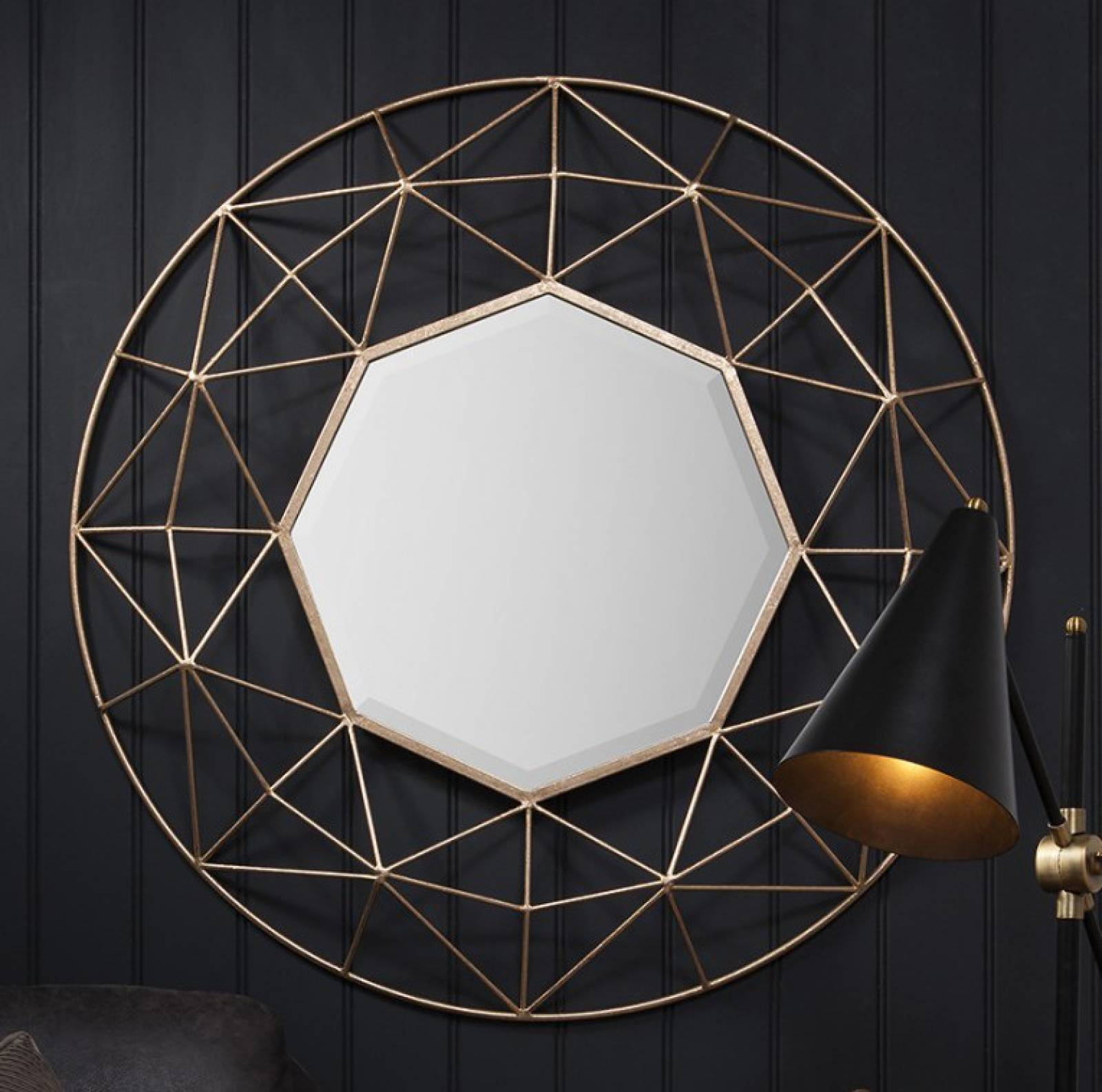 Octagon Mirror Gold Wire thumbnails