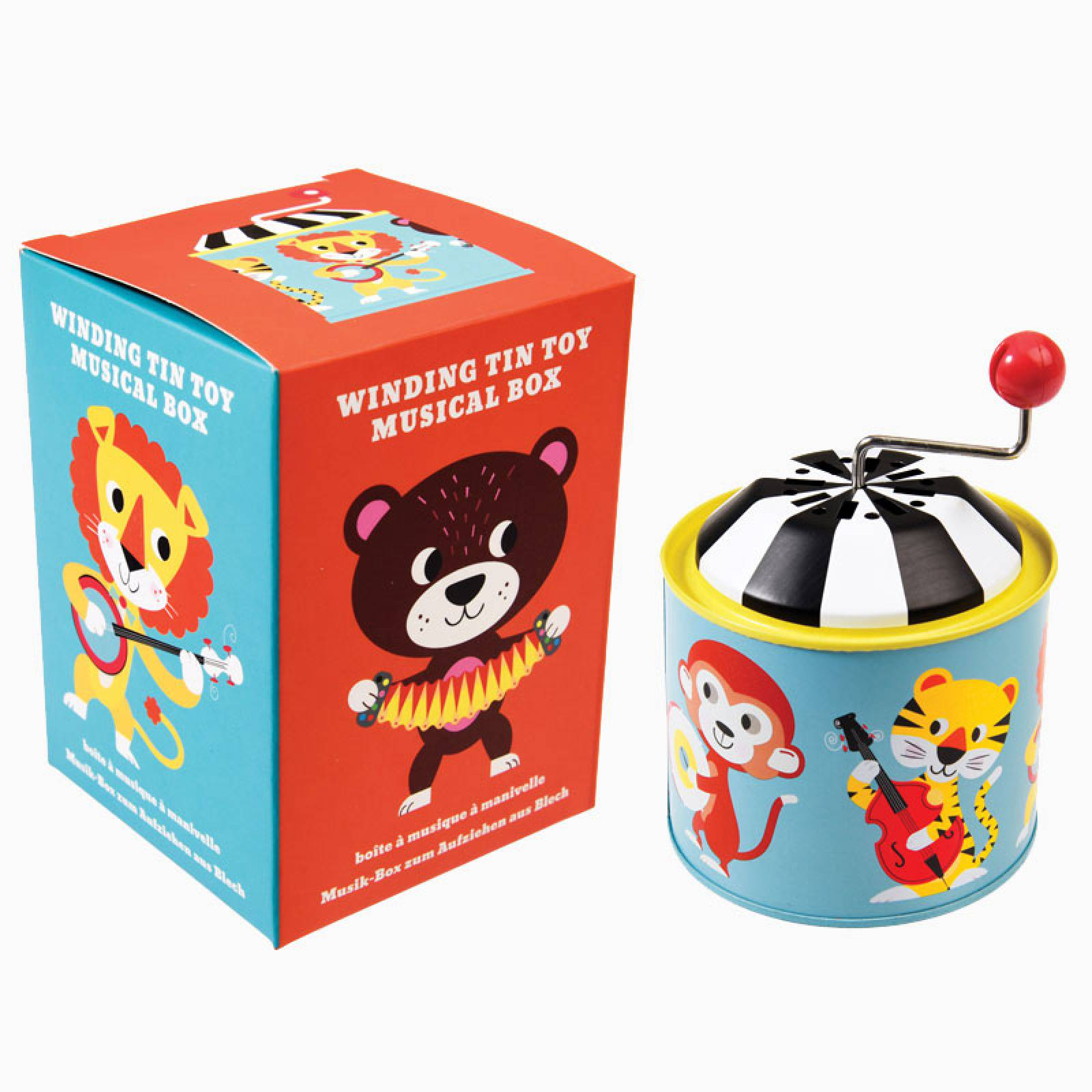 Animal Park Winding Tin Tinkletonk Musical Toy