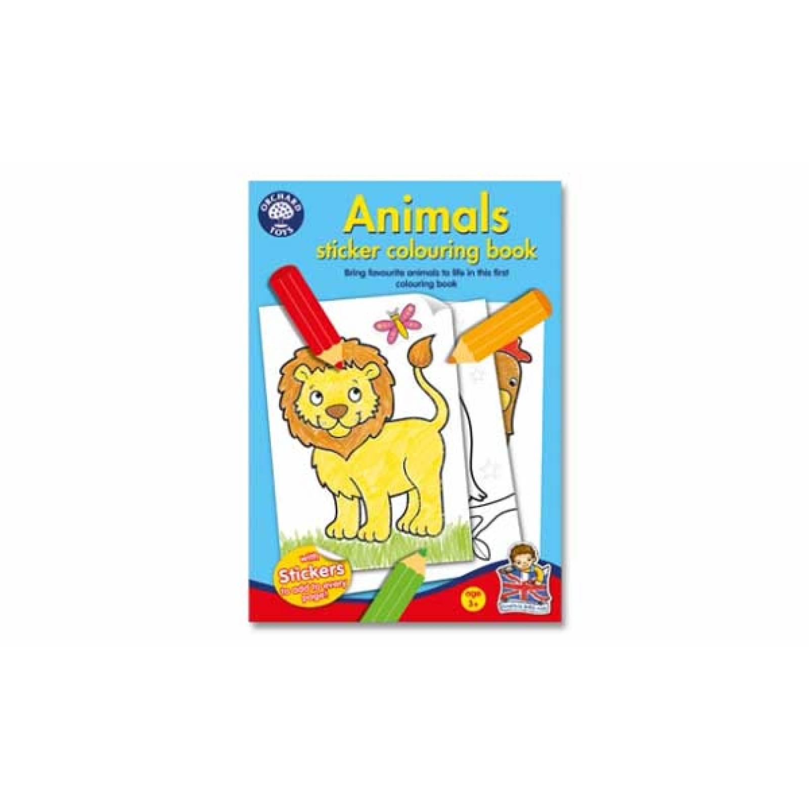 Animals Sticker Colouring Book By Orchard Toys 3+