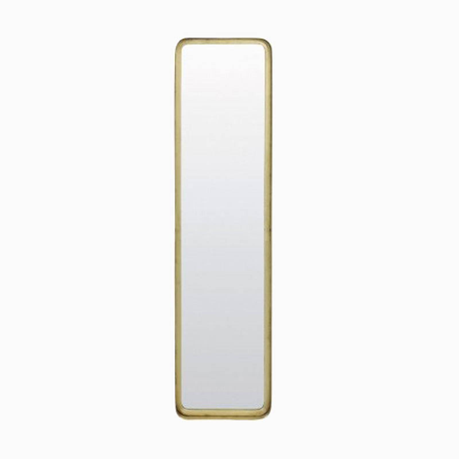 Gold Rectangular Annis Mirror 20x4.5x80cm