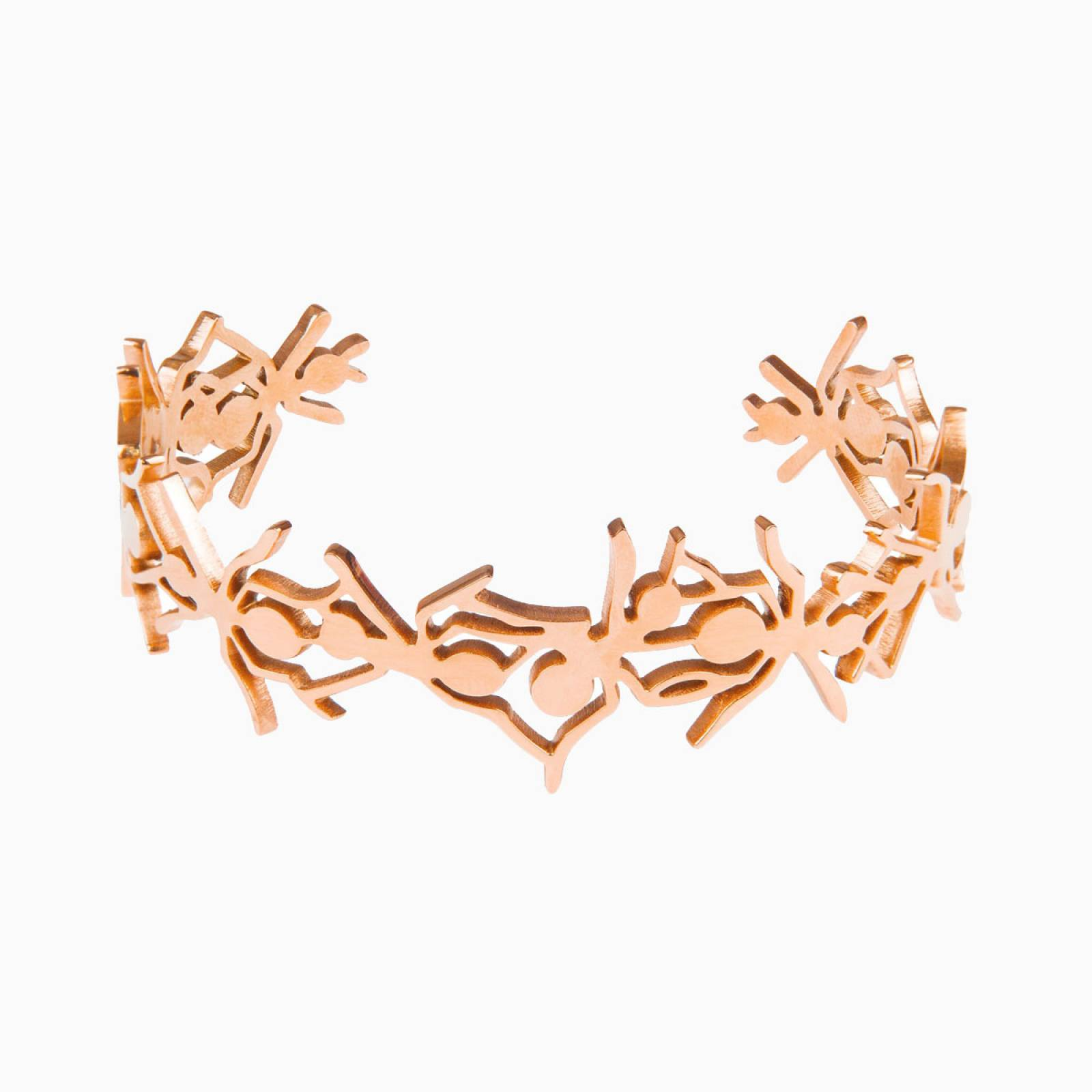 Rose Gold Ant Cuff Bracelet By Esa Evans