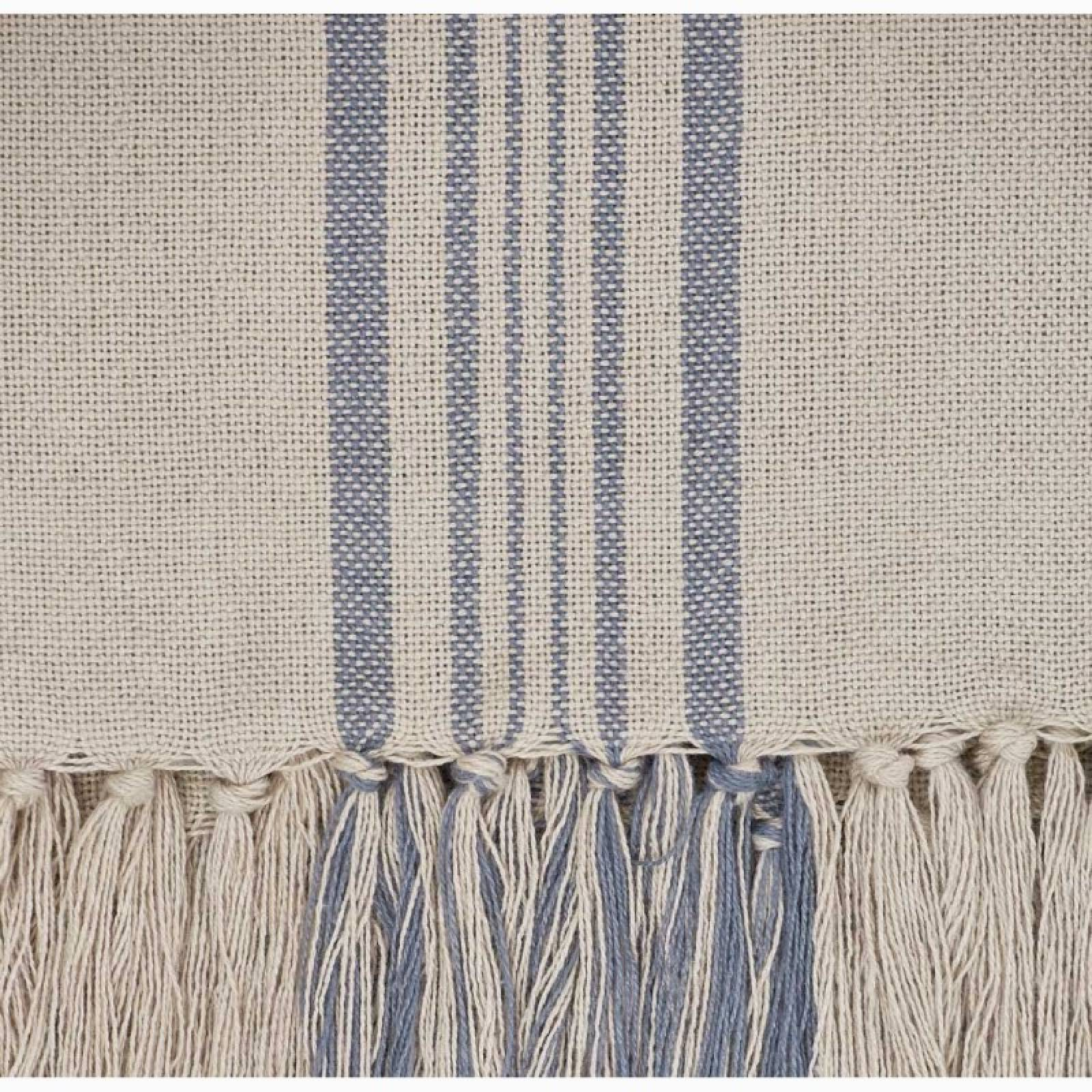 Antibes Blue Stripe Throw - Made From Recycled Plastic Bottles thumbnails