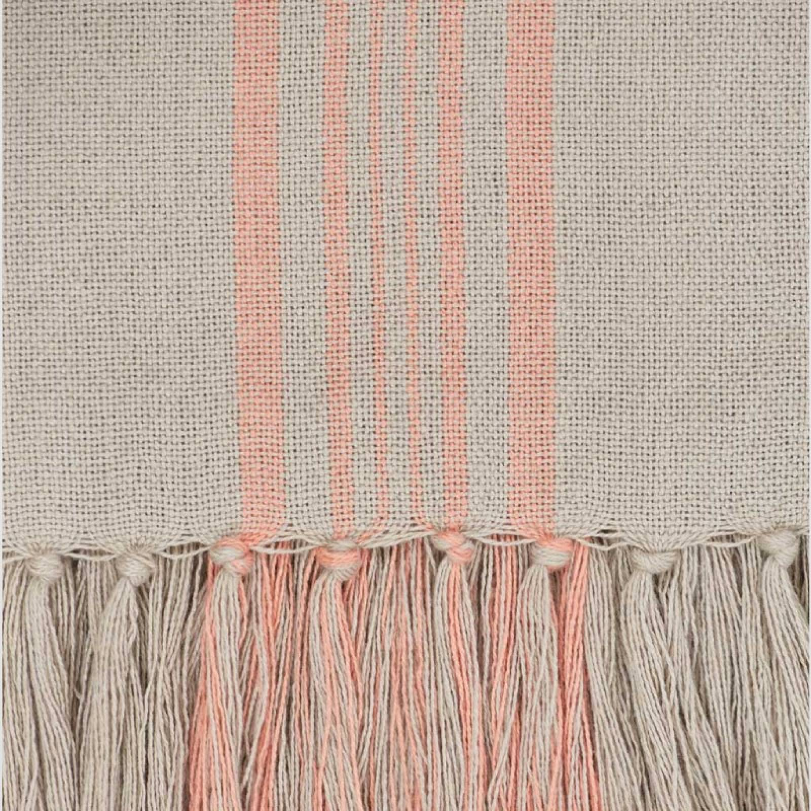 Antibes Coral Stripe Throw - Made From Recycled Plastic Bottles thumbnails