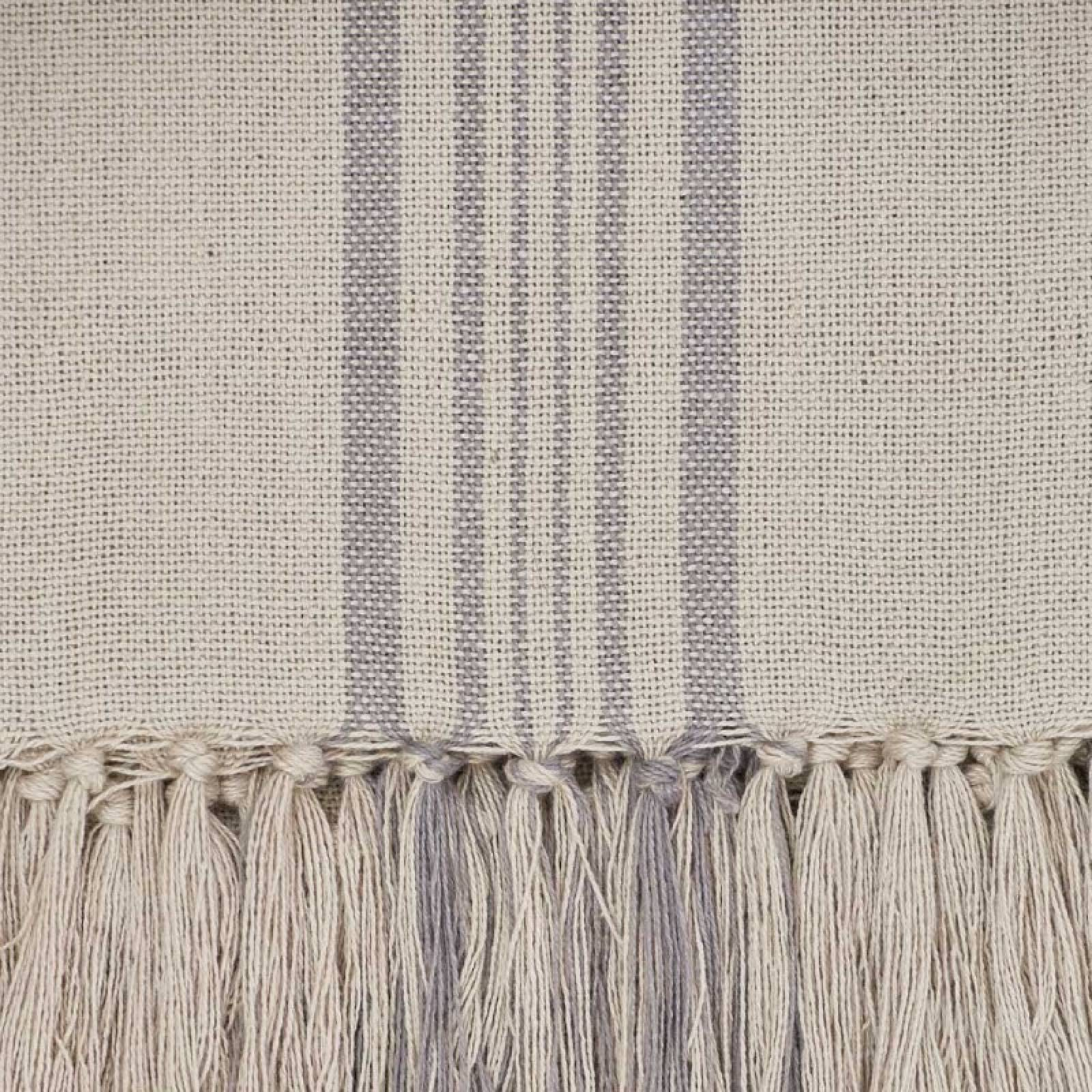Antibes Grey Stripe Throw - Made From Recycled Plastic Bottles thumbnails