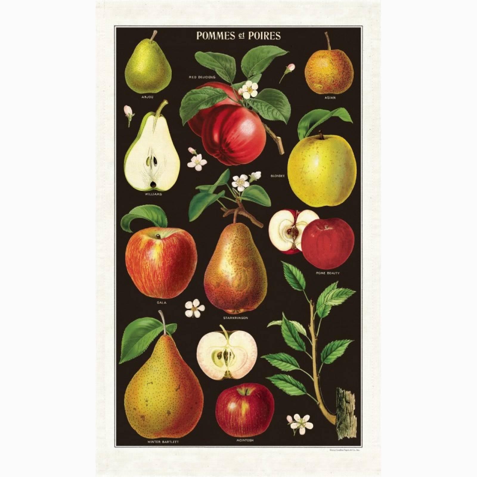 Apples & Pears Tea Towel With Gift Bag
