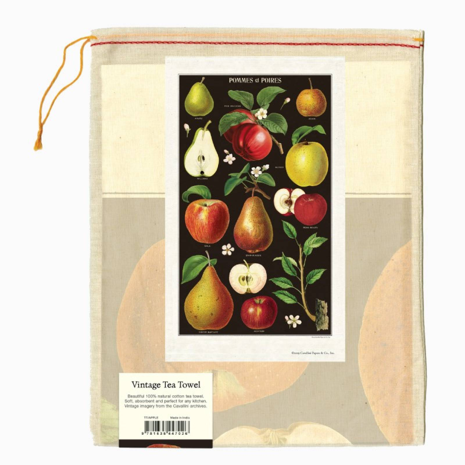 Apples & Pears Tea Towel With Gift Bag thumbnails