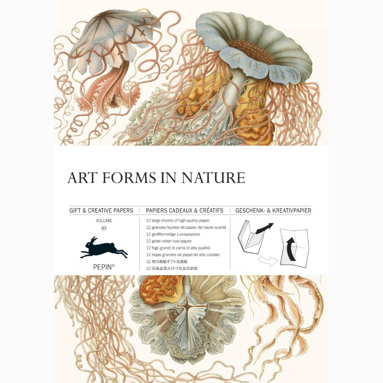 Art Forms In Nature - Pepin Book Of Gift Wrap