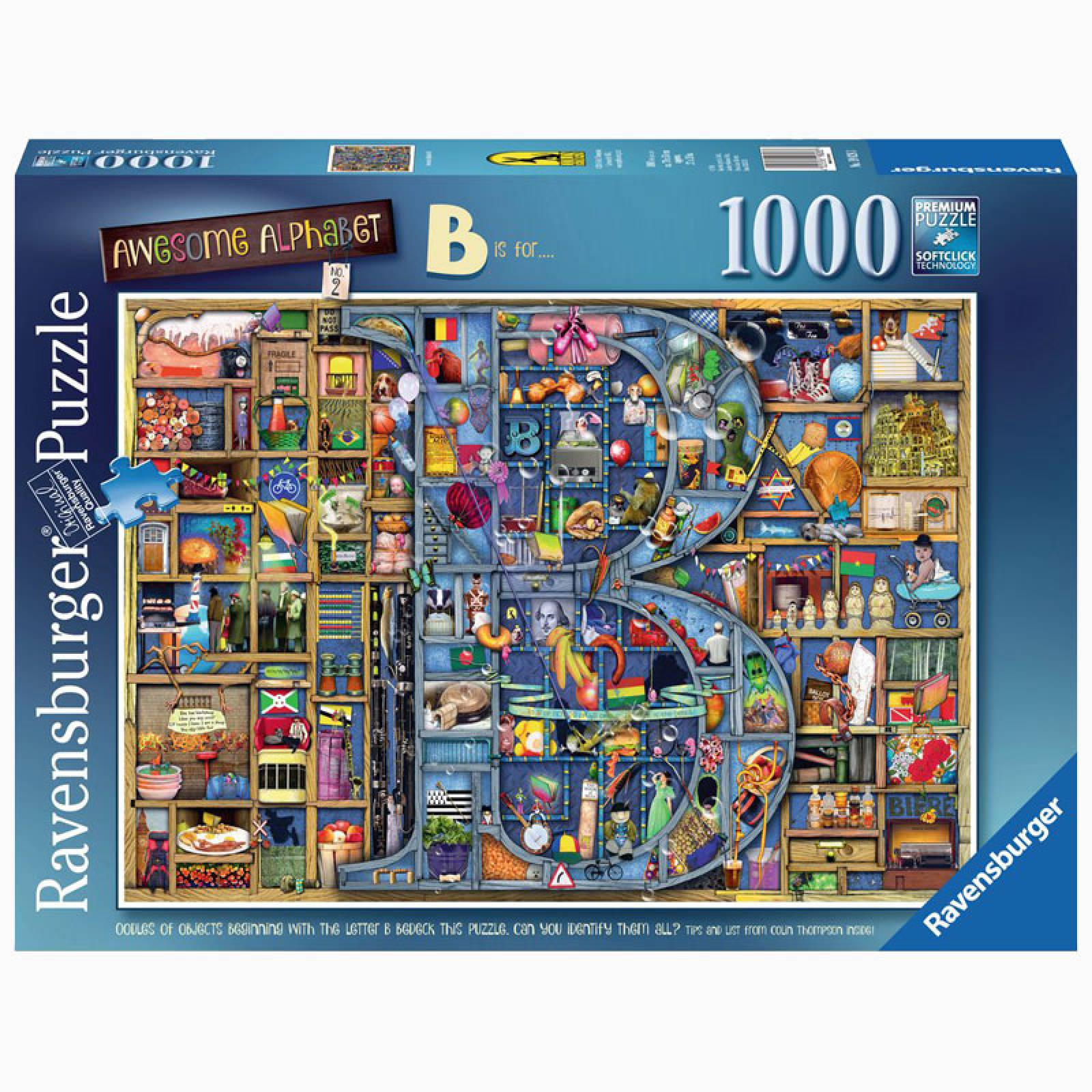 Awesome Alphabet B 1000 Piece Jigsaw Puzzle thumbnails
