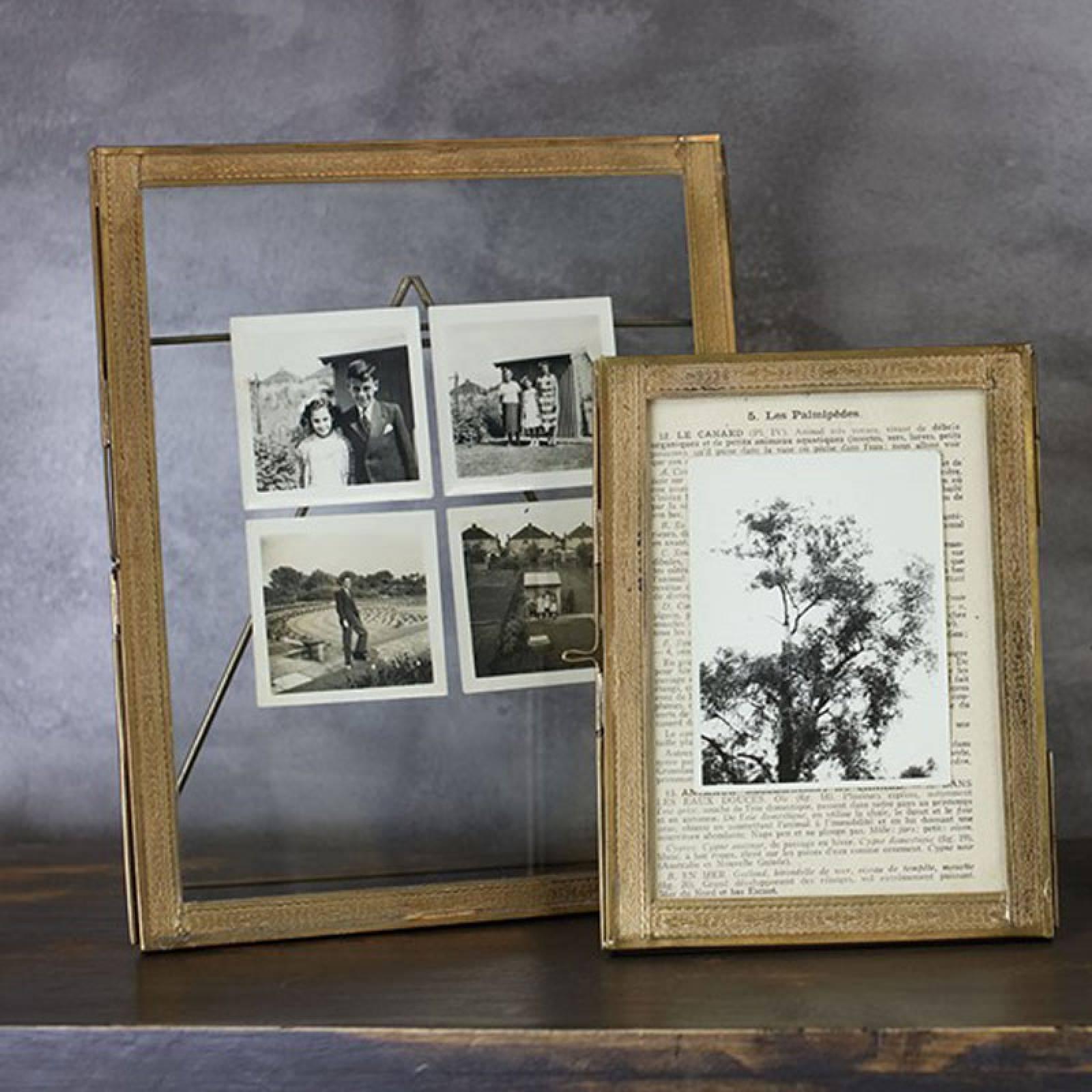 "Azizi Standing Brass Frame - 5x7"""