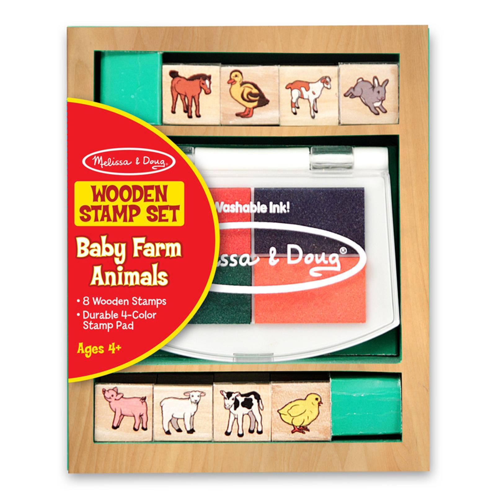 Baby Farm Animals - Small Stamp Set By Melissa & Doug
