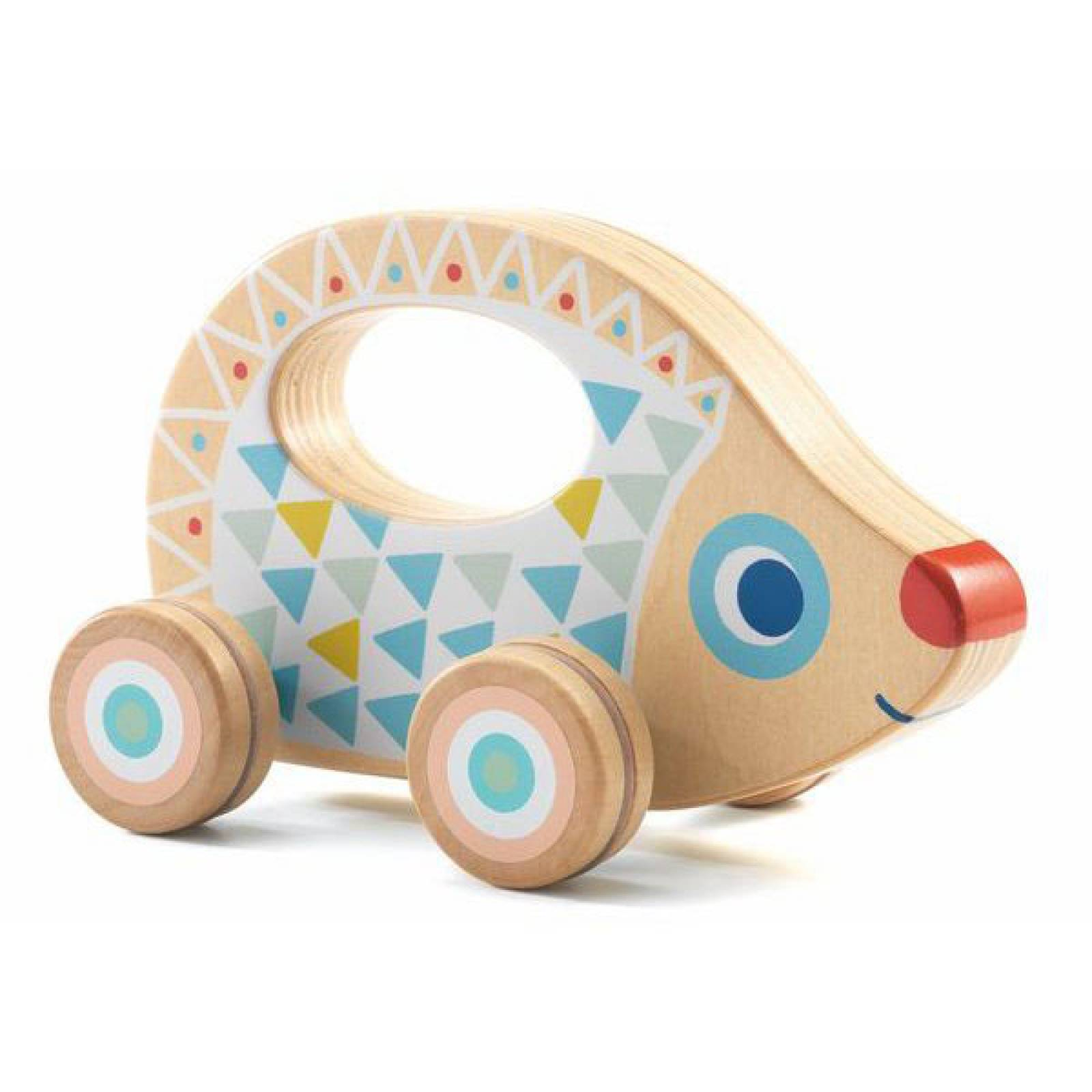BabyRouli Wooden Hedgehog By Djeco 1+ thumbnails