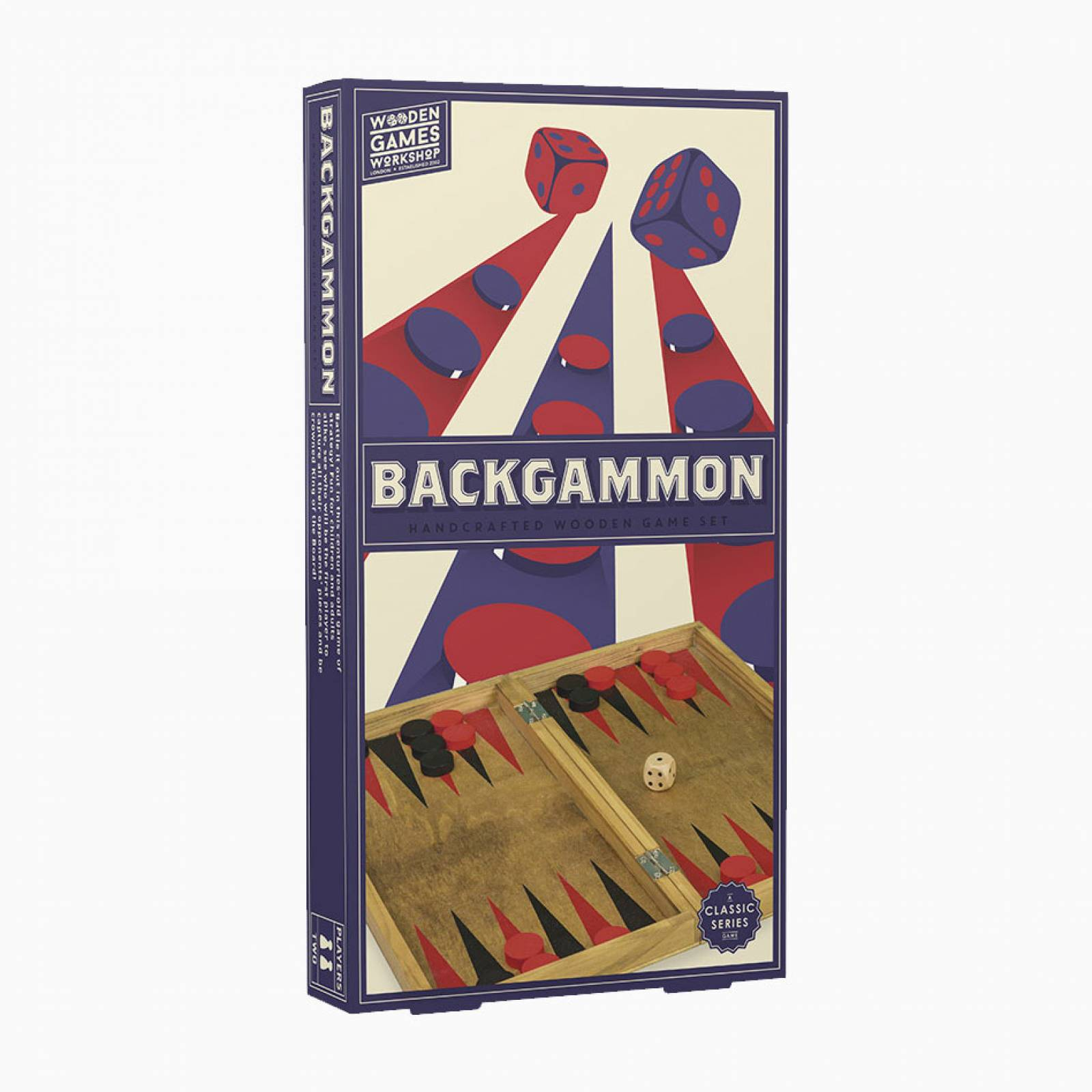 Backgammon - Handcrafted Wooden Board Game 3+