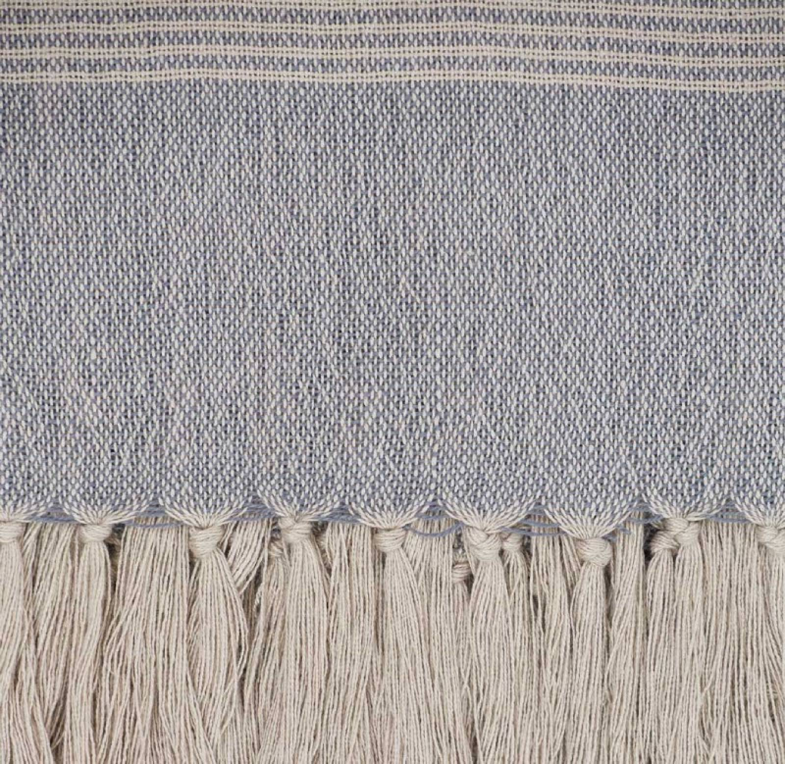 Bandol Throw In Blue - Made From Recycled Bottles thumbnails