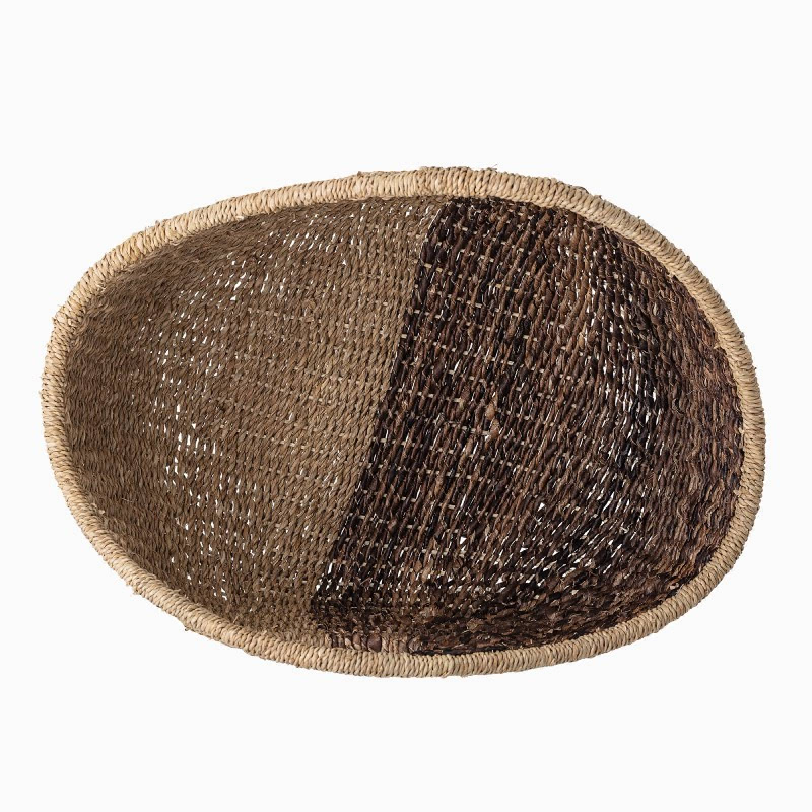 Bankuan Grass Curved Storage Basket With Handles thumbnails