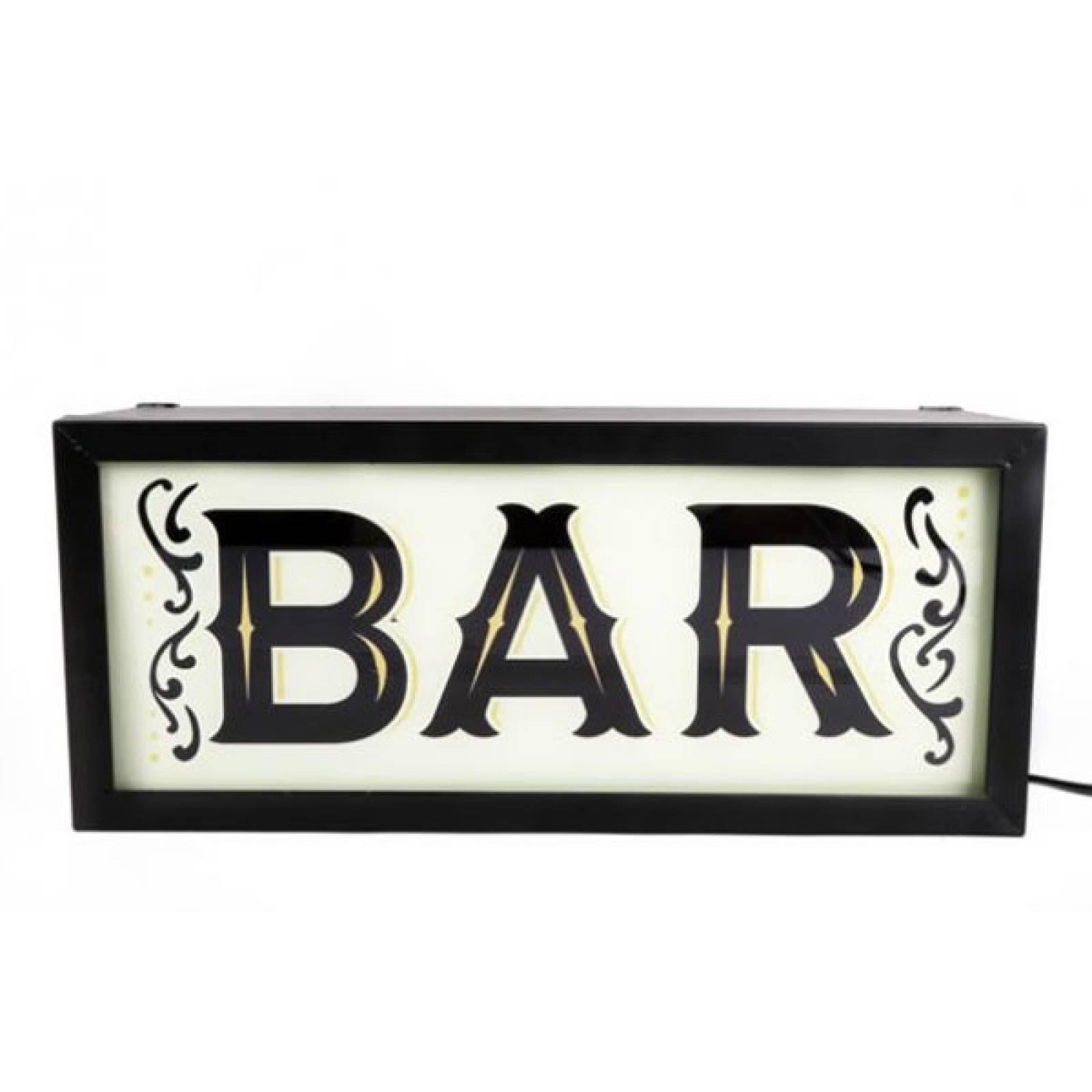 Bar Illuminated Sign Wall Mount Box Sign