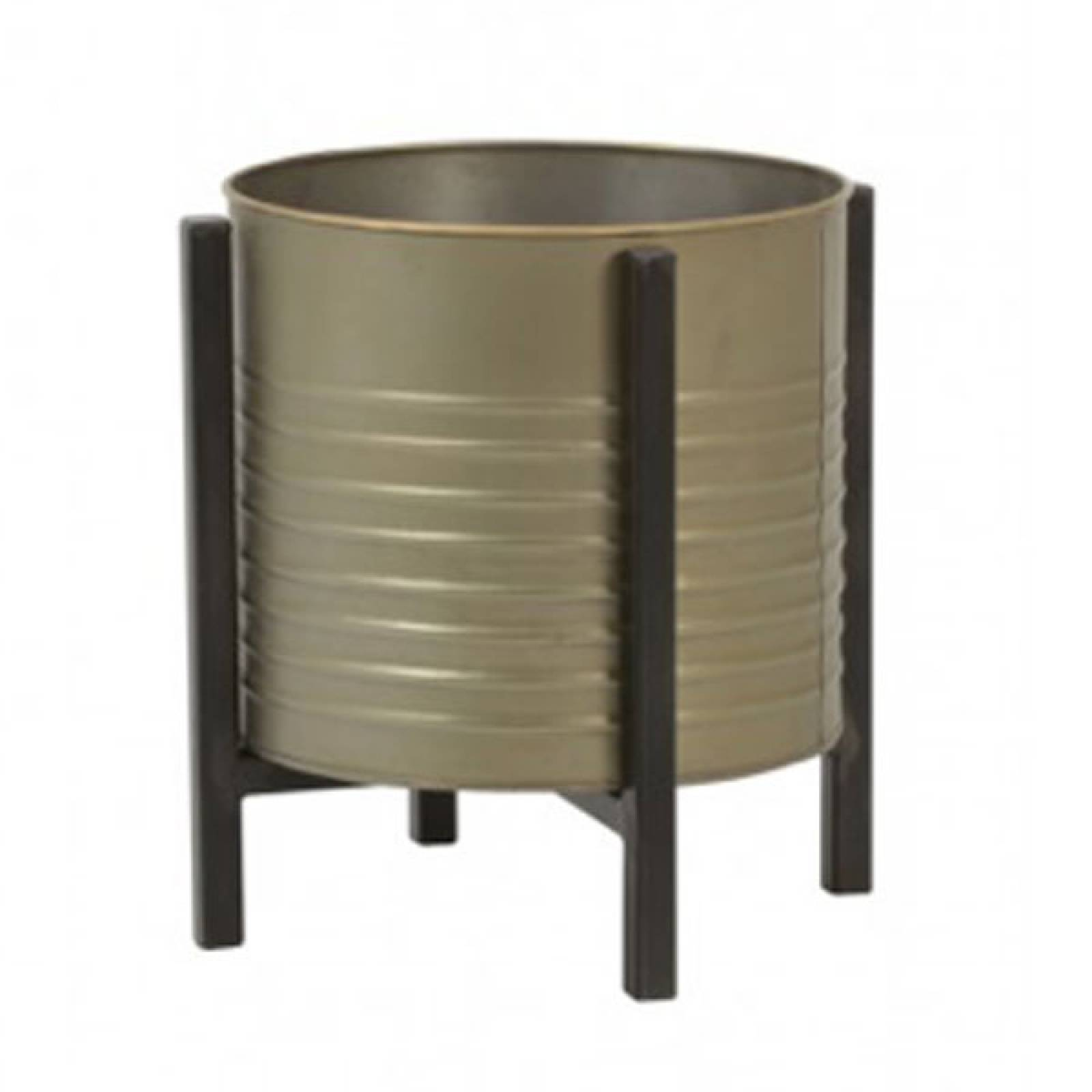 Barrel Bin On Legs Bronze Tin thumbnails