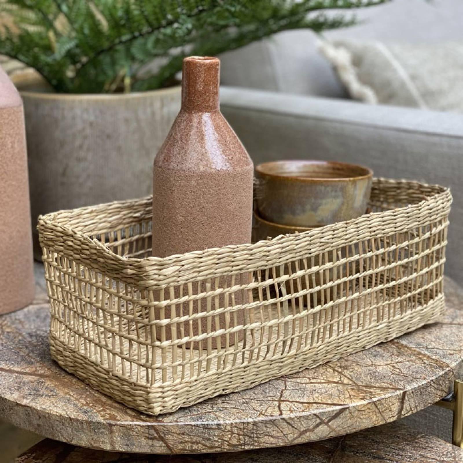 Small Rectangular Woven Seagrass Basket thumbnails