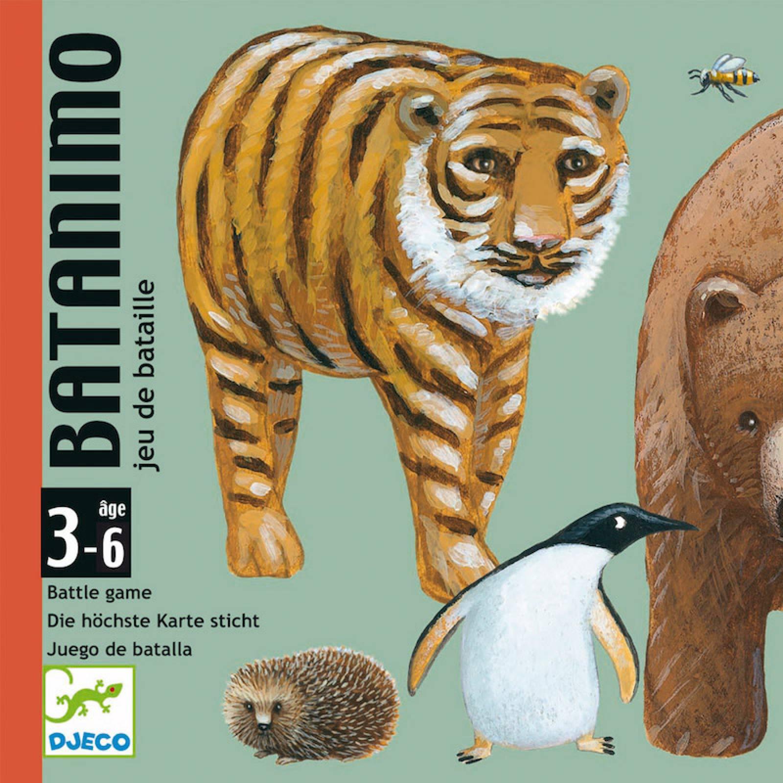 Batanimo Card Game - Battle Animal Game 3-7yrs
