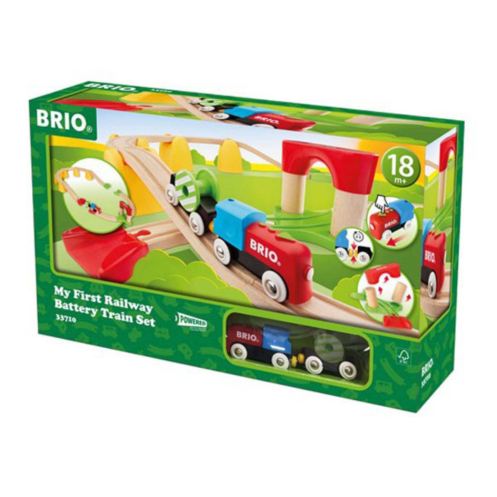 My First Railway Battery Train Set BRIO Wooden Railway Age 1.5+ thumbnails