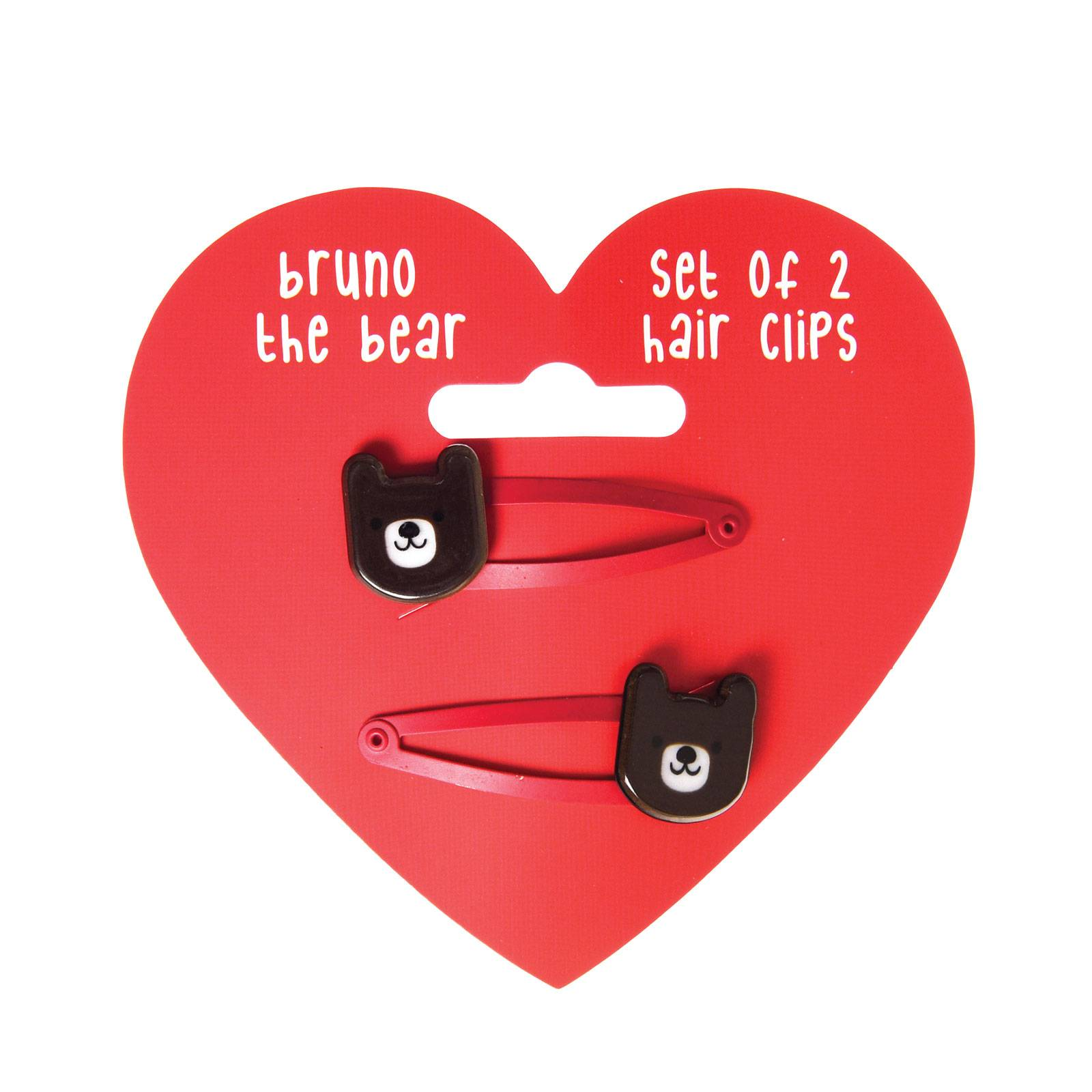 Set Of 2 Bear Hairclips
