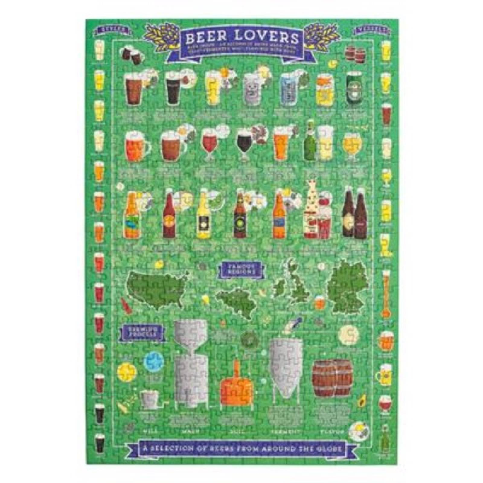 Beer Lovers' Jigsaw Puzzle 500 Pieces thumbnails