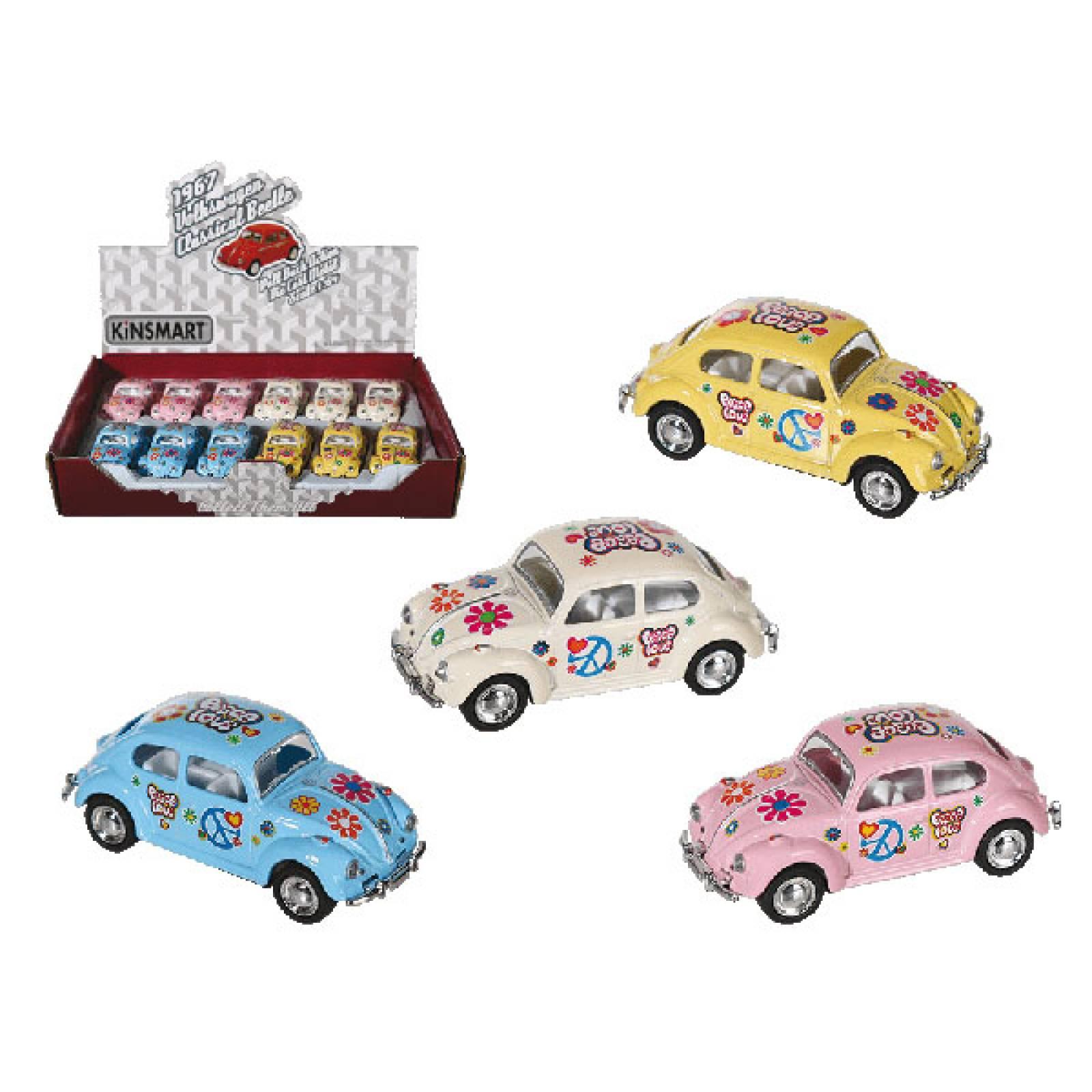 Mini Pull Back VW Beetle Metal Toy VARIOUS 3+