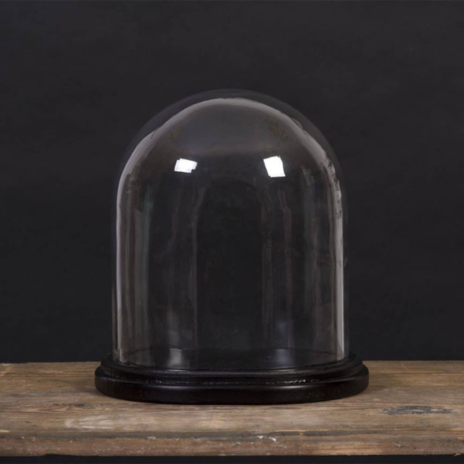 Medium Oval Glass Dome And Base 23cm x 18x  21.5cm thumbnails